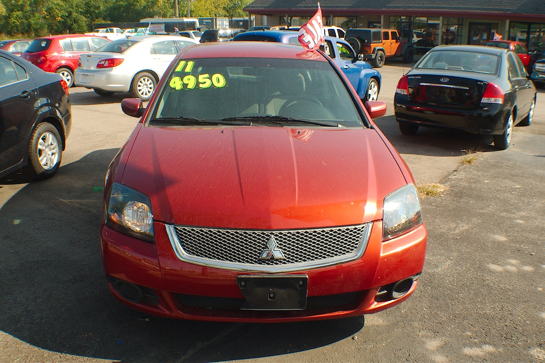 2011 Mitsubishi Galant Red Sedan Used Car Sale Gurnee Kenosha Mchenry Chicago Illinois