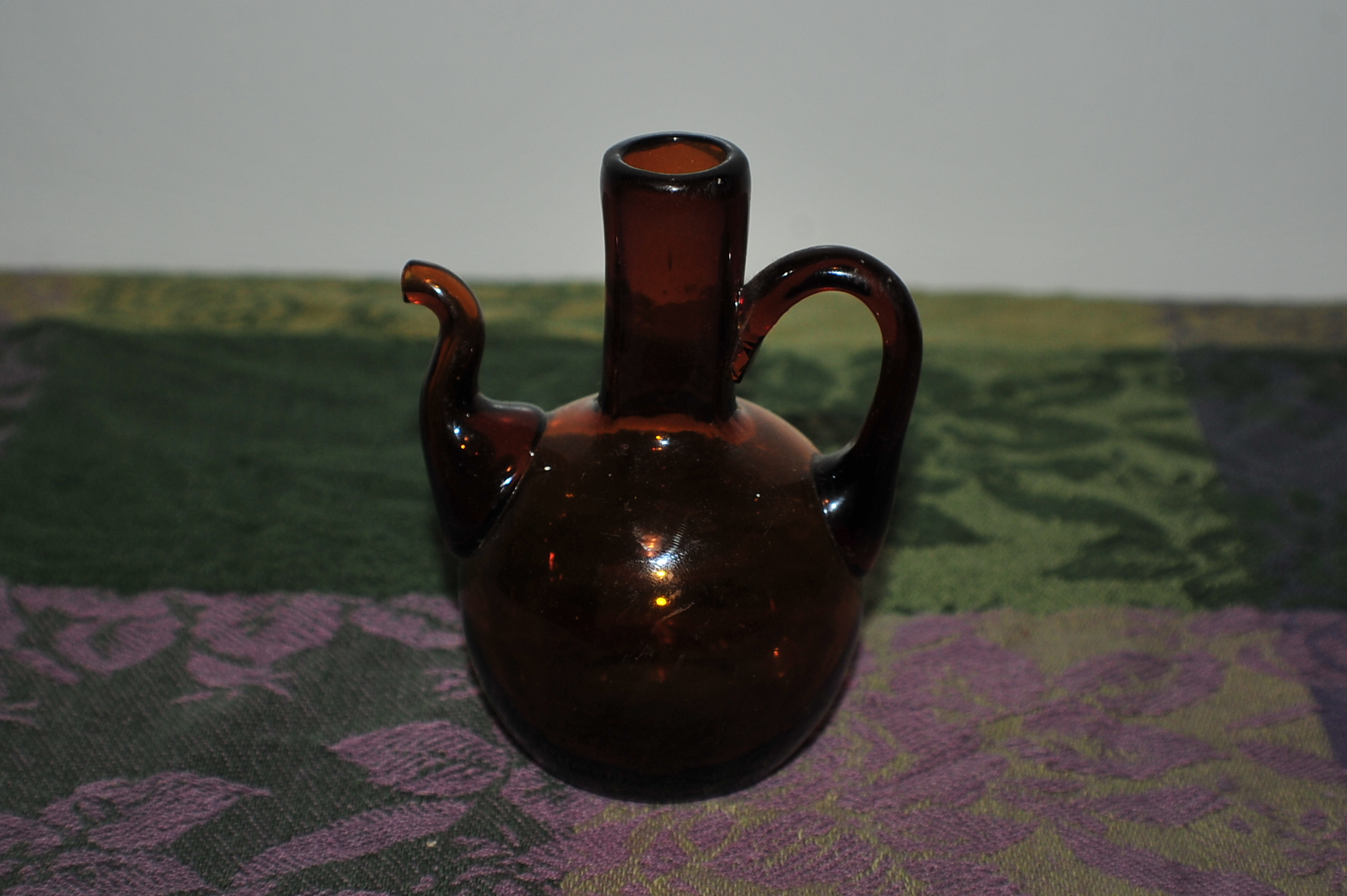 Miniature Collectable Amber Tea Glass Pitcher Sale gift idea