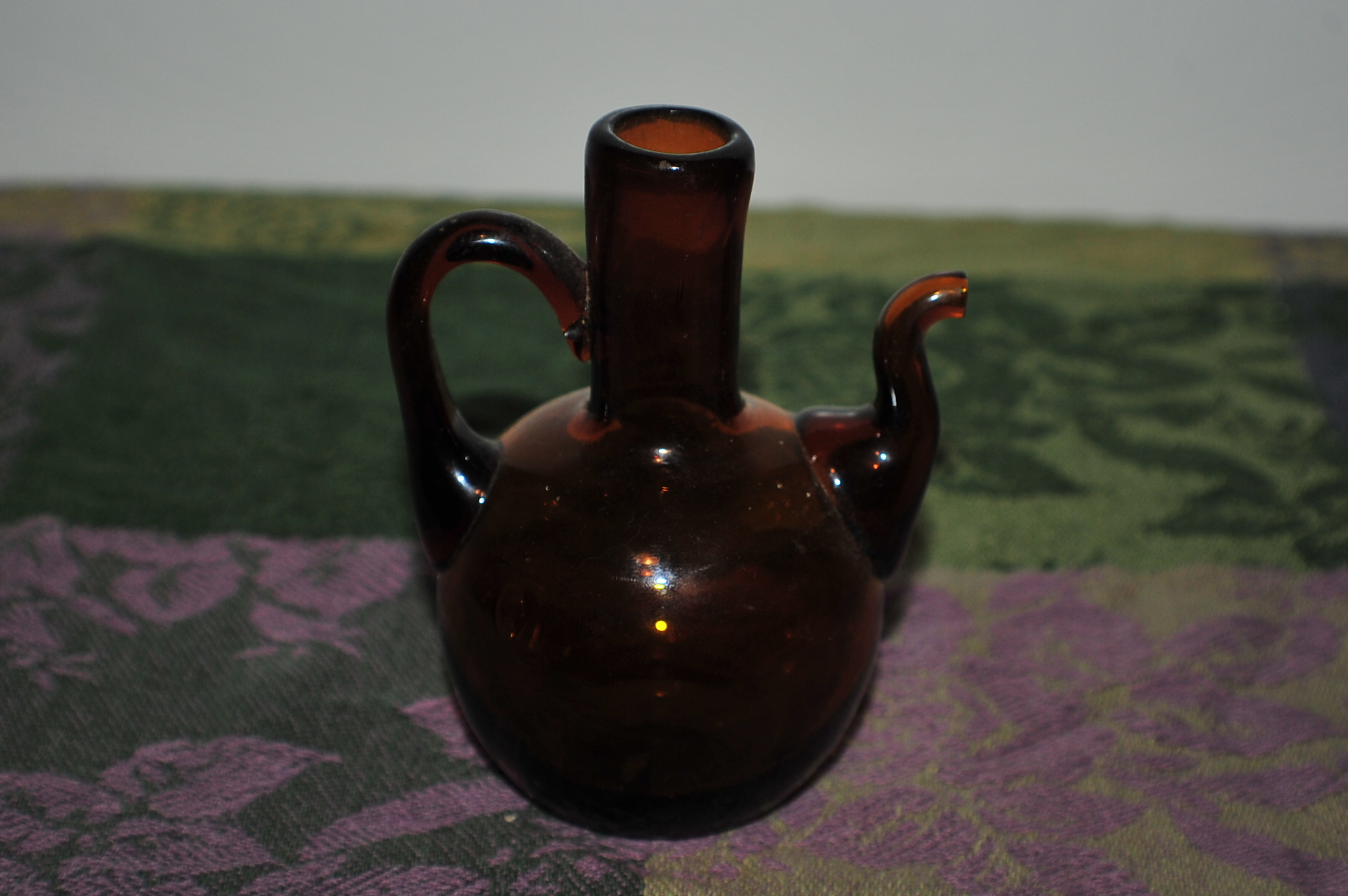 Miniature Collectable Amber Tea Glass Pitcher Sale best price