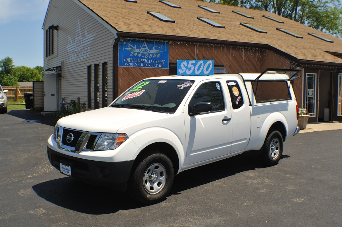 2012 Nissan Frontier White Ext Cab Truck Sale Antioch Zion Waukegan Lake County Illinois