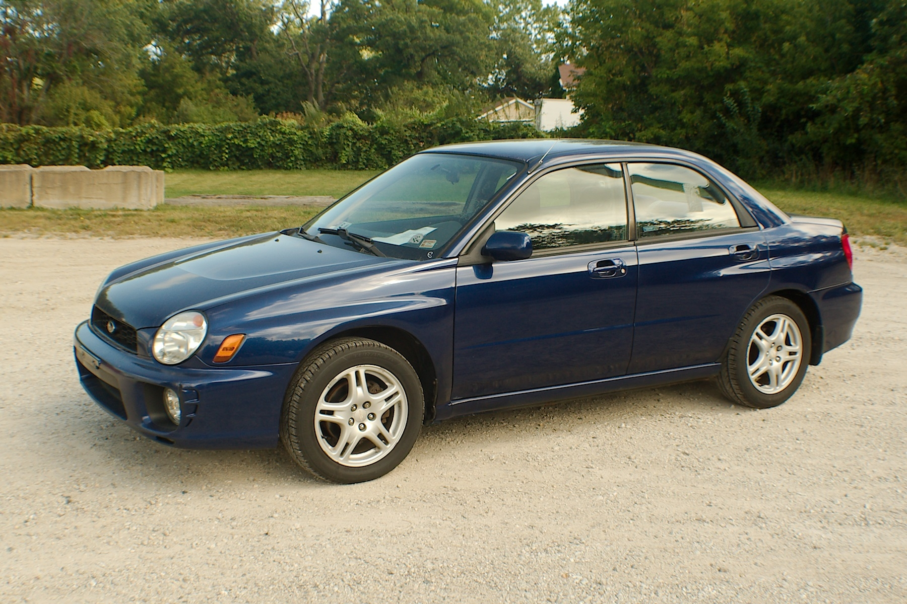 2003 Subaru Impreza Blue AWD Sedan Wagon Used Car Sale Antioch Zion Waukegan Lake County Illinois