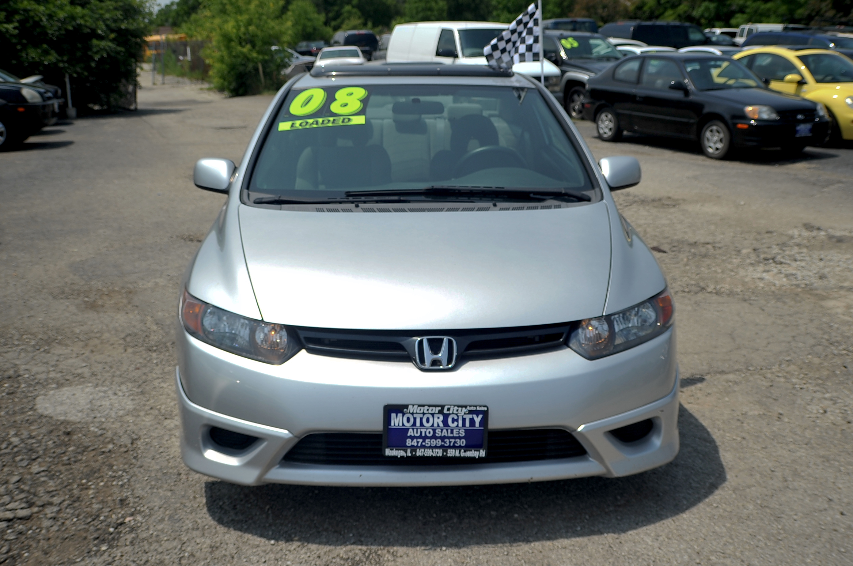 2008 Honda Civic Silver Sport Coupe Used Car Sale Libertyville Beach Park