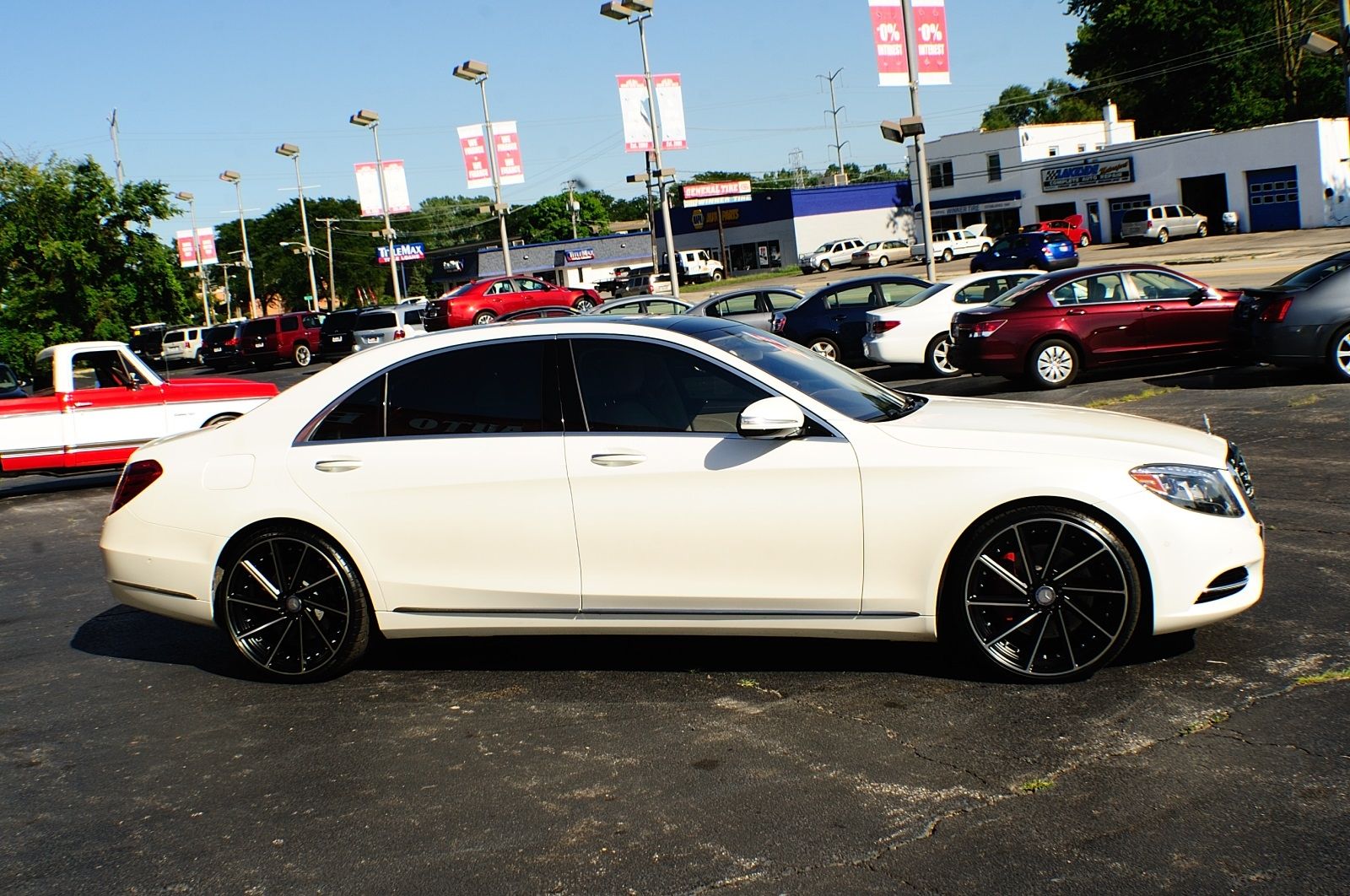 2014 Mercedes Benz S550 4matic Awd Turbo White Sedan