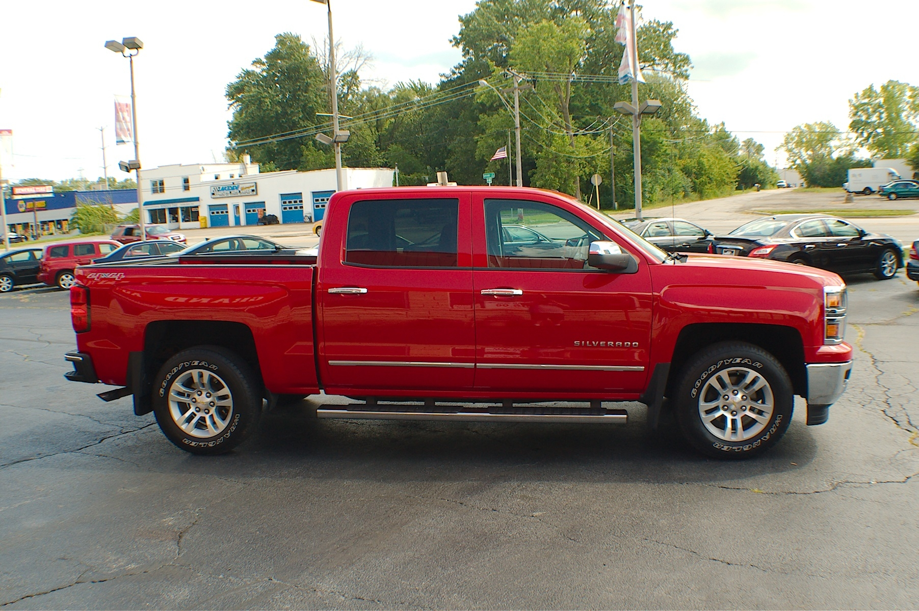 2014 Chevrolet Silverado LT Red Used Pickup Truck Sale Buffalo Grove Deerfield Fox Lake Antioch
