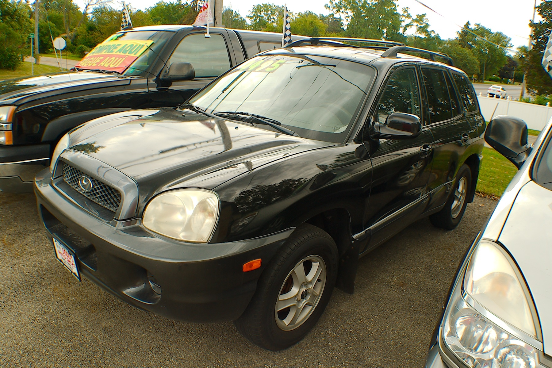 2003 Hyundai Santa Fe Black SUV Sale Antioch Zion Waukegan Lake County Illinois