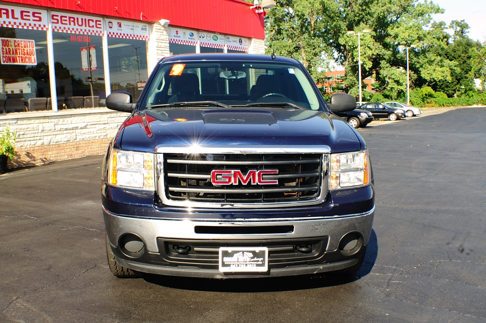 2009 GMC Sierra SLE Blue Used 4x4 Truck Sale Gurnee Kenosha Mchenry Chicago Illinois