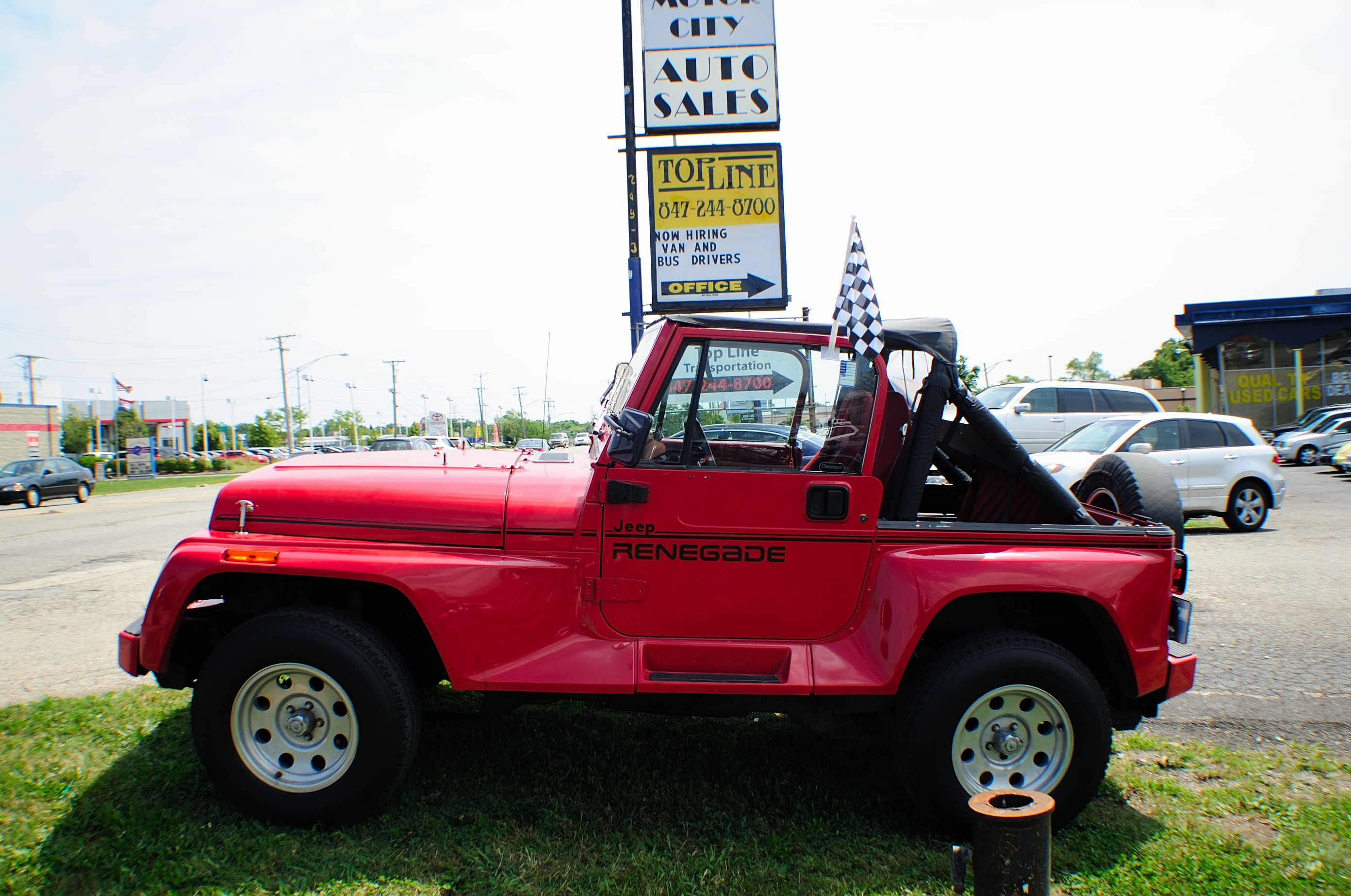 1991 Jeep Wrangler Renegade Red 4x4 Sale Antioch Grayslake