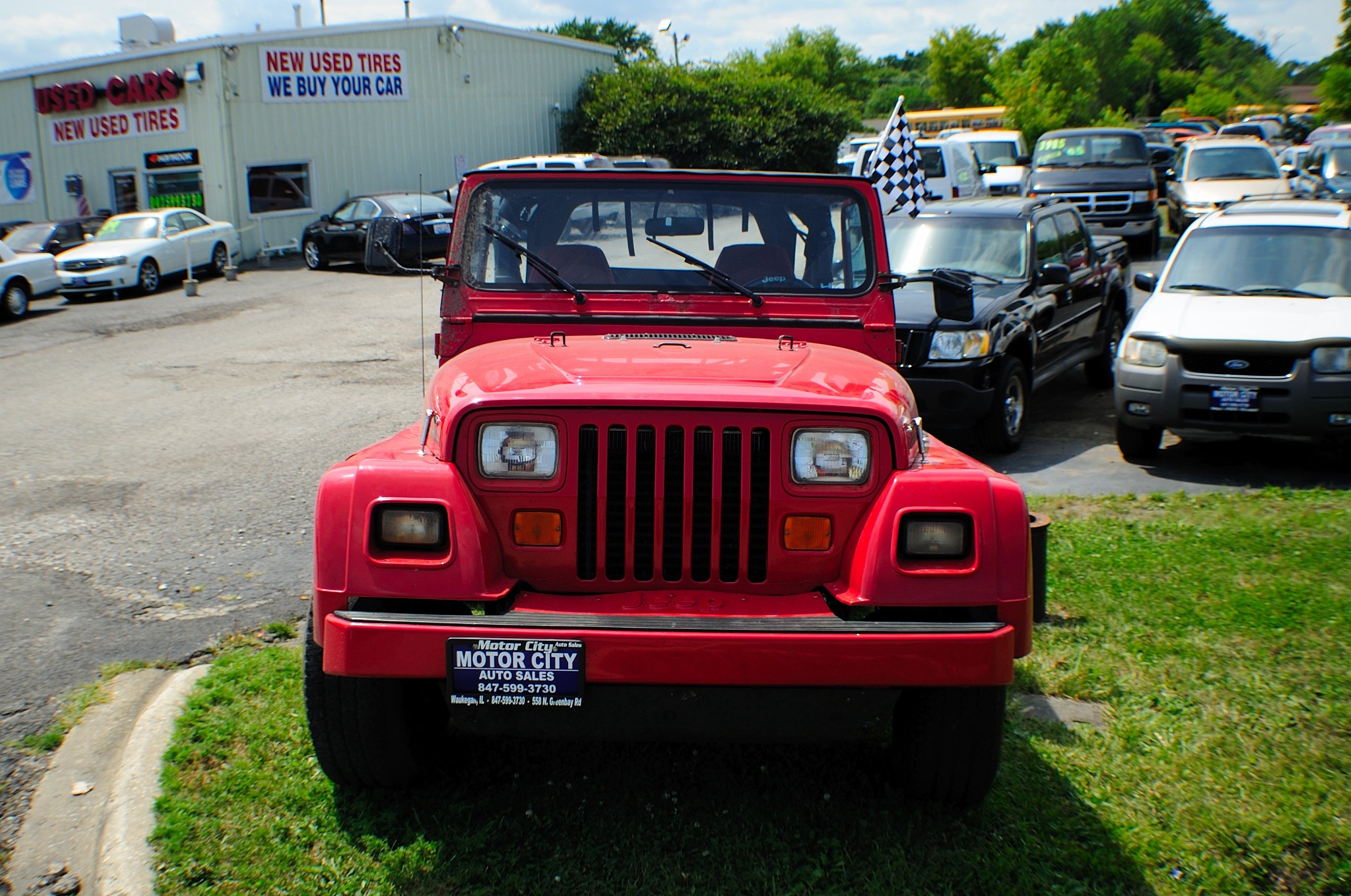 1991 Jeep Wrangler Renegade Red 4x4 Sale Libertyville Beach Park