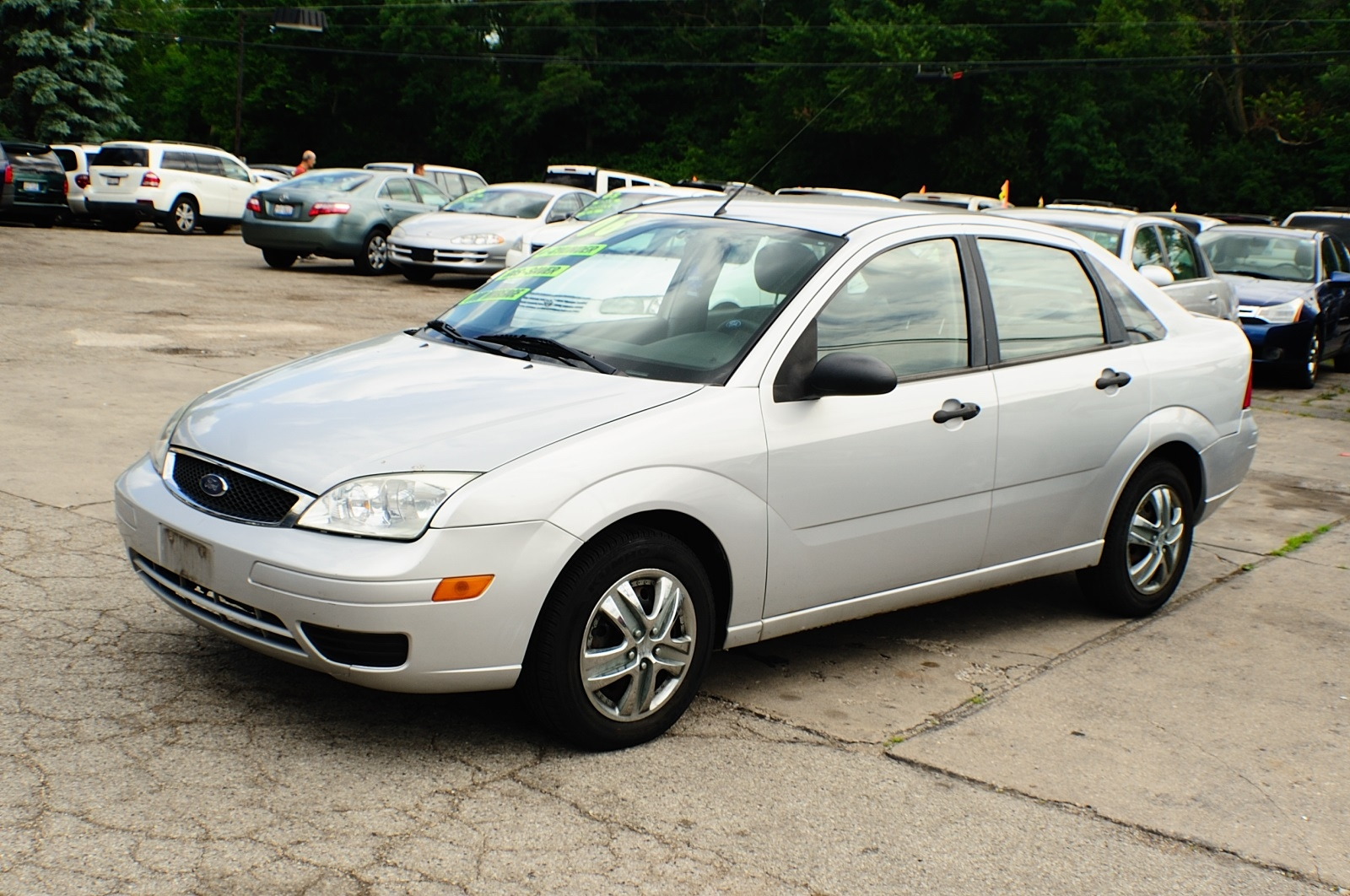 2006 ford focus se silver zx4 used sedan car sale. Black Bedroom Furniture Sets. Home Design Ideas