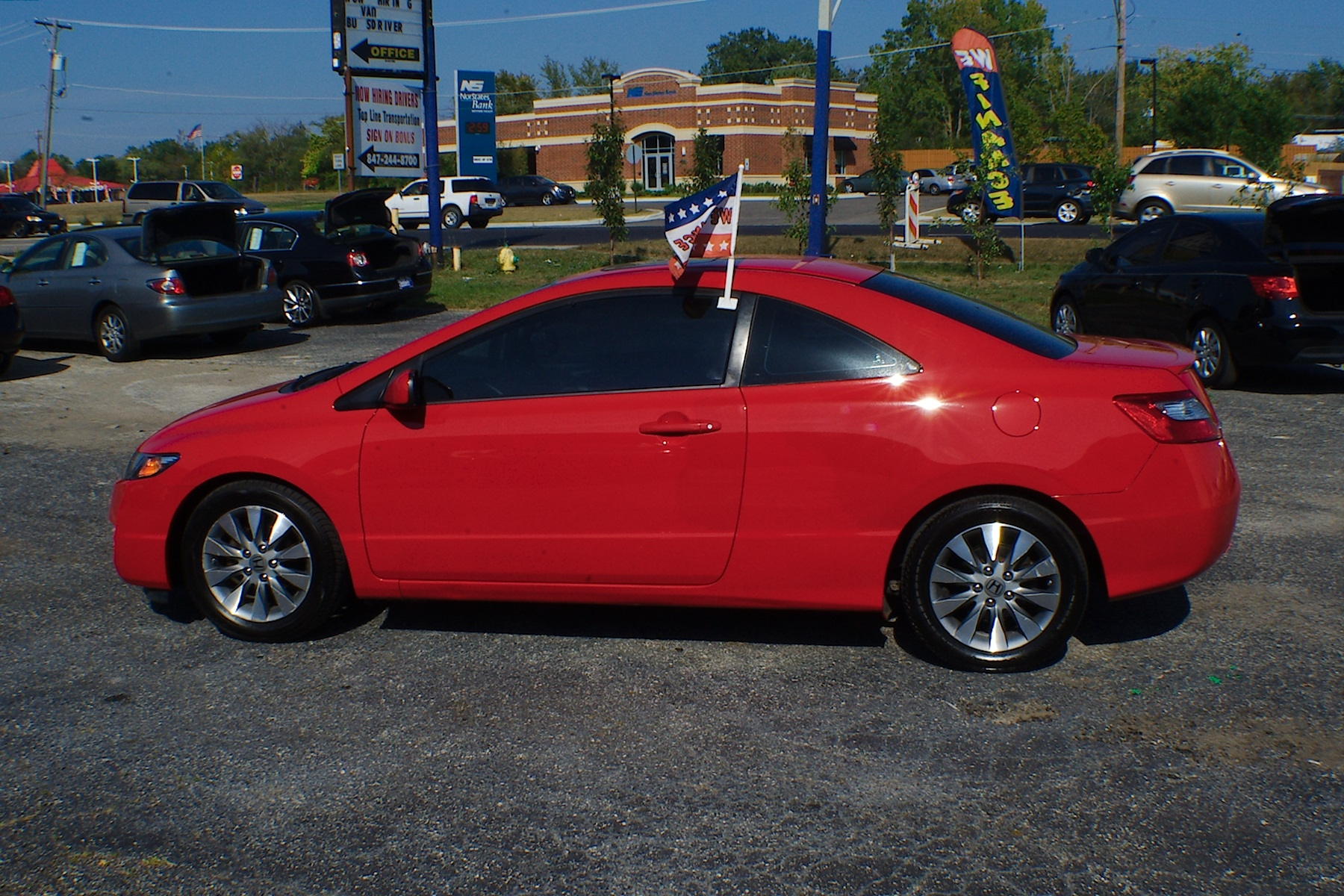 2011 Honda Civic Red Sport Coupe Used Car Sale Bannockburn Barrington Beach Park