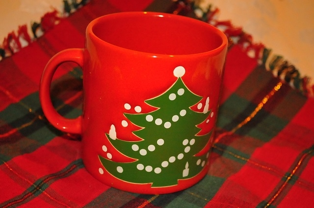 WAECHTERSBACH Red Green Christmas Tree Holiday Coffee Cup