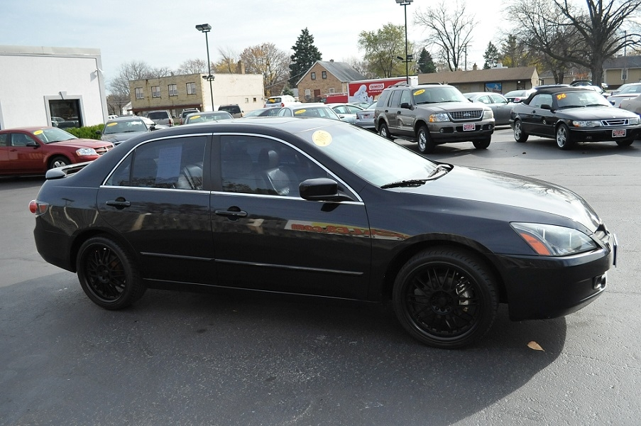 2005 Honda Accord Ex Black Sedan Car Sale