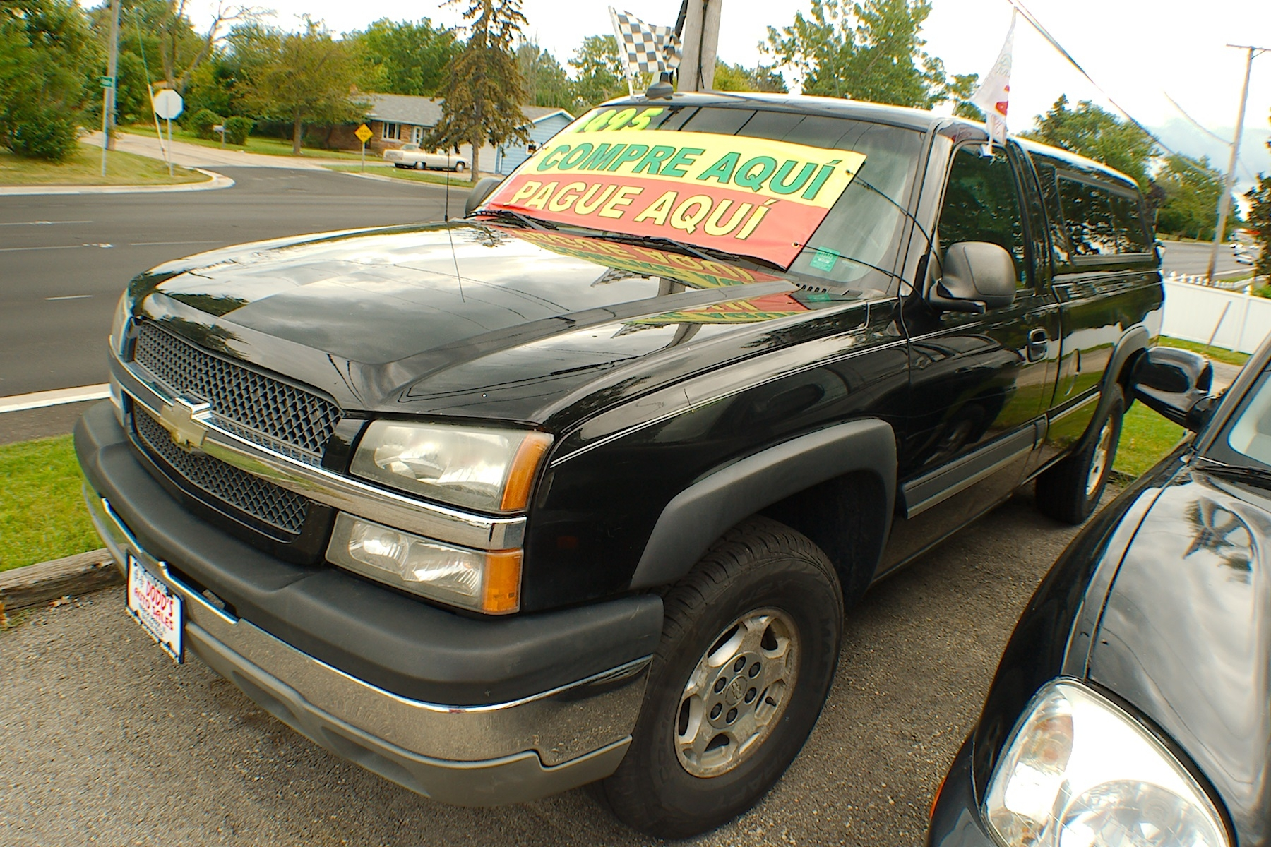 2003 Chevy Silverado LS Black 4x4 Z71 Truck Sale Antioch Zion Waukegan Lake County Illinois