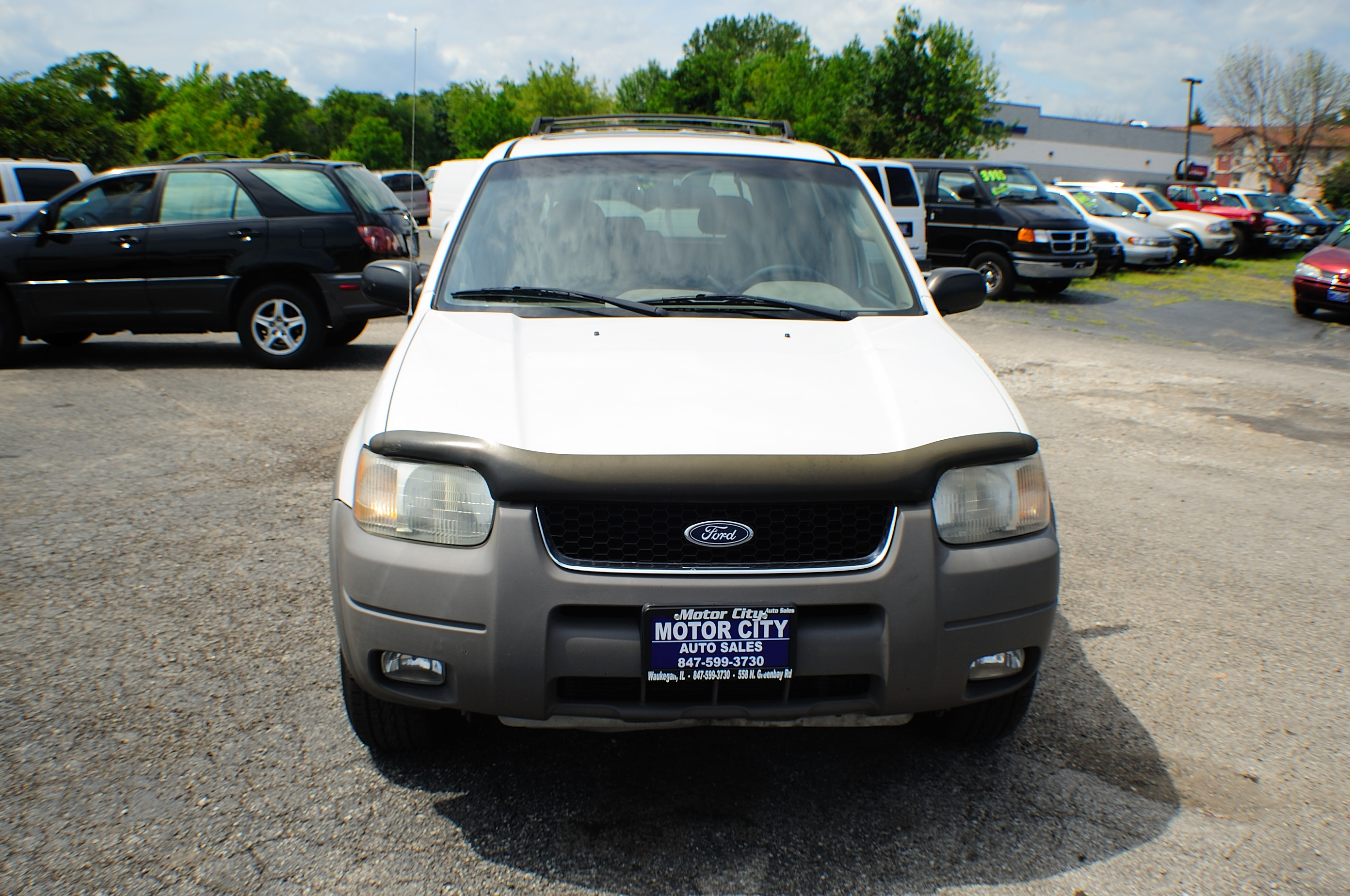 2001 Ford Escape XLT White 4x4 SUV Used Car Sale Libertyville Beach Park