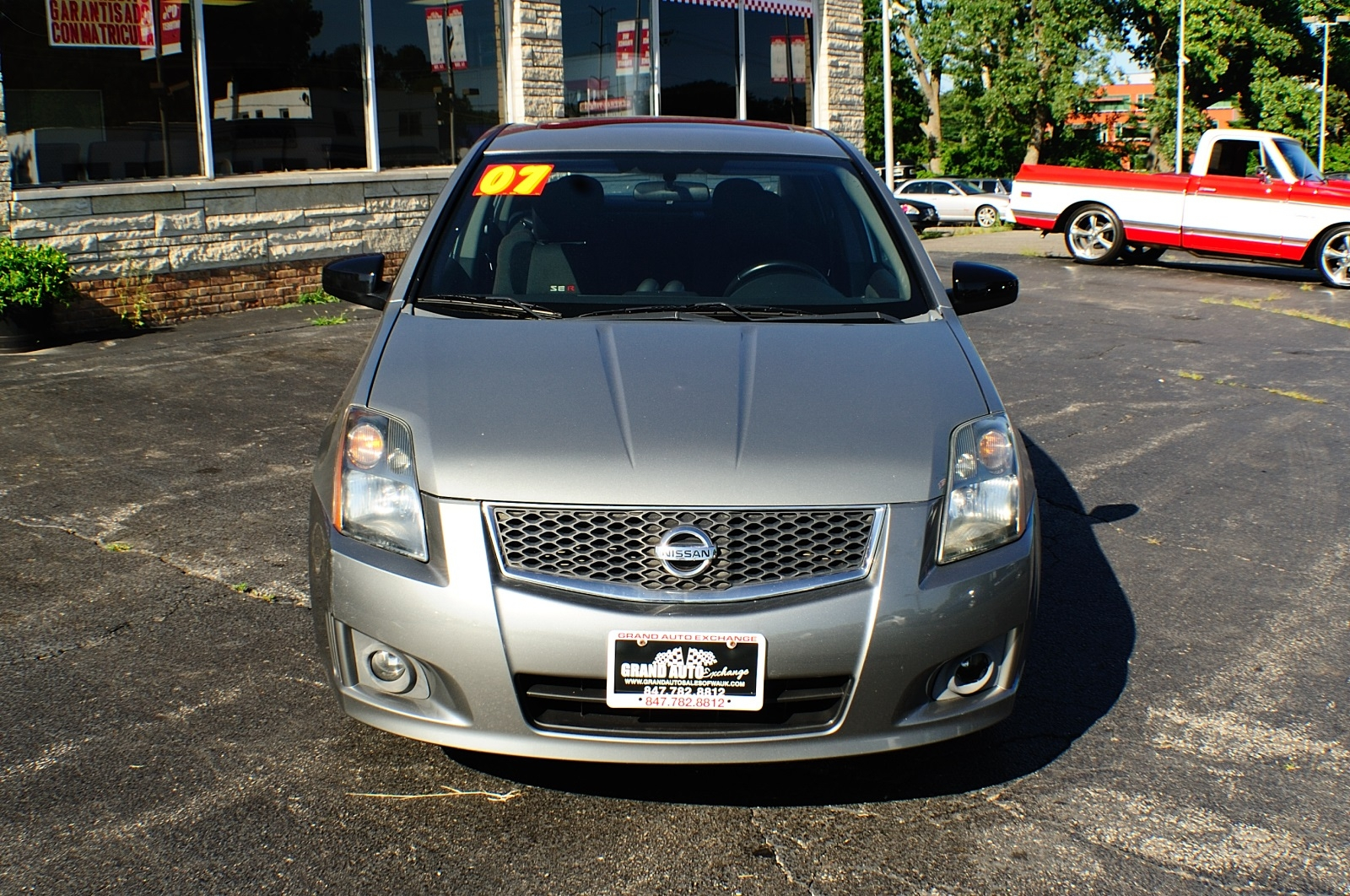 2007 Nissan Sentra SER Gray Sedan Used Car Sale Gurnee Kenosha Mchenry Chicago Illinois