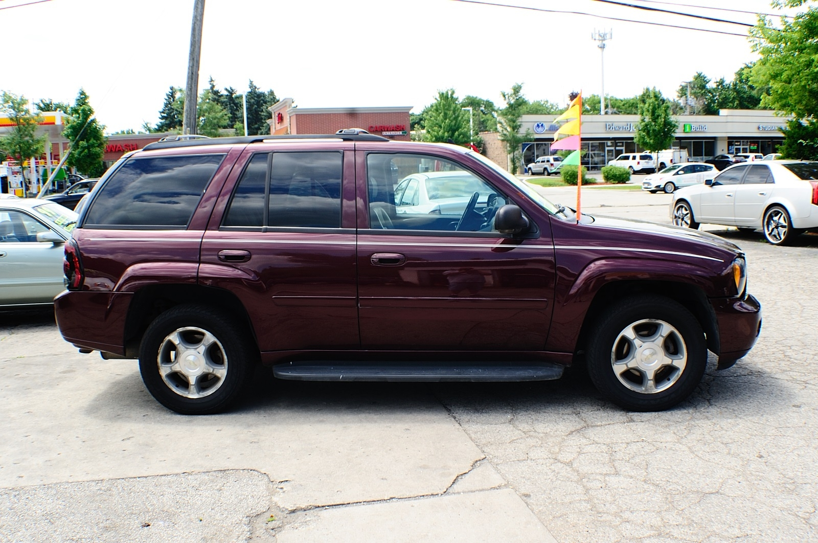 2006 Chevrolet Trailblazer LT Burgundy Used SUV Sale Downers Grove Carpentersville Cicero Oak Park
