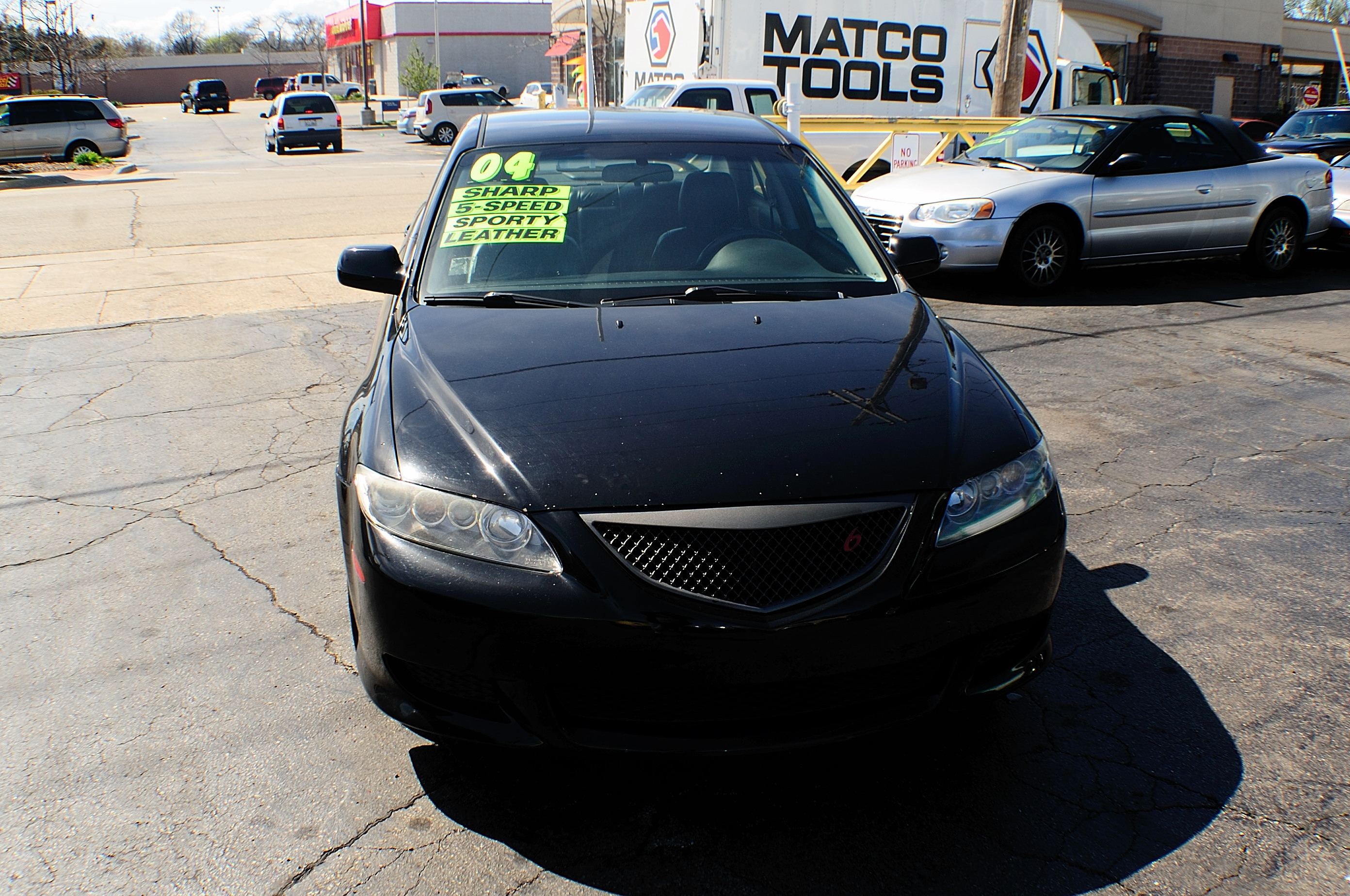 2004 Mazda 6 Black Manual Shift 4Dr Sedan sale used car Gurnee Kenosha Mchenry