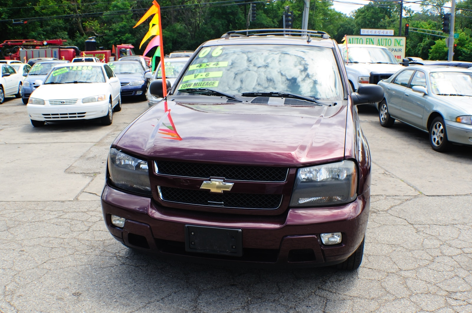 2006 Chevrolet Trailblazer LT Burgundy Used SUV Sale Buffalo Grove Bollingbrook Carol Stream Illinois