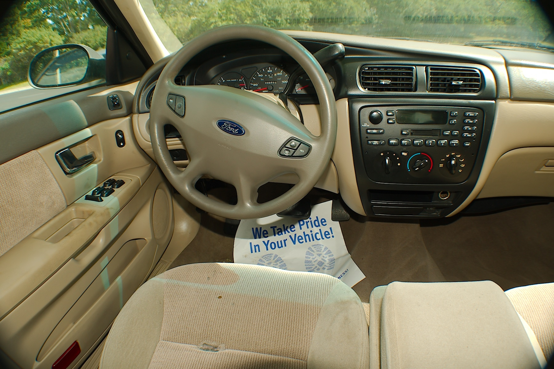 2001 Ford Taurus Sand Sedan Used Car Sale Green Oaks Hainesville Hawthorne Woods