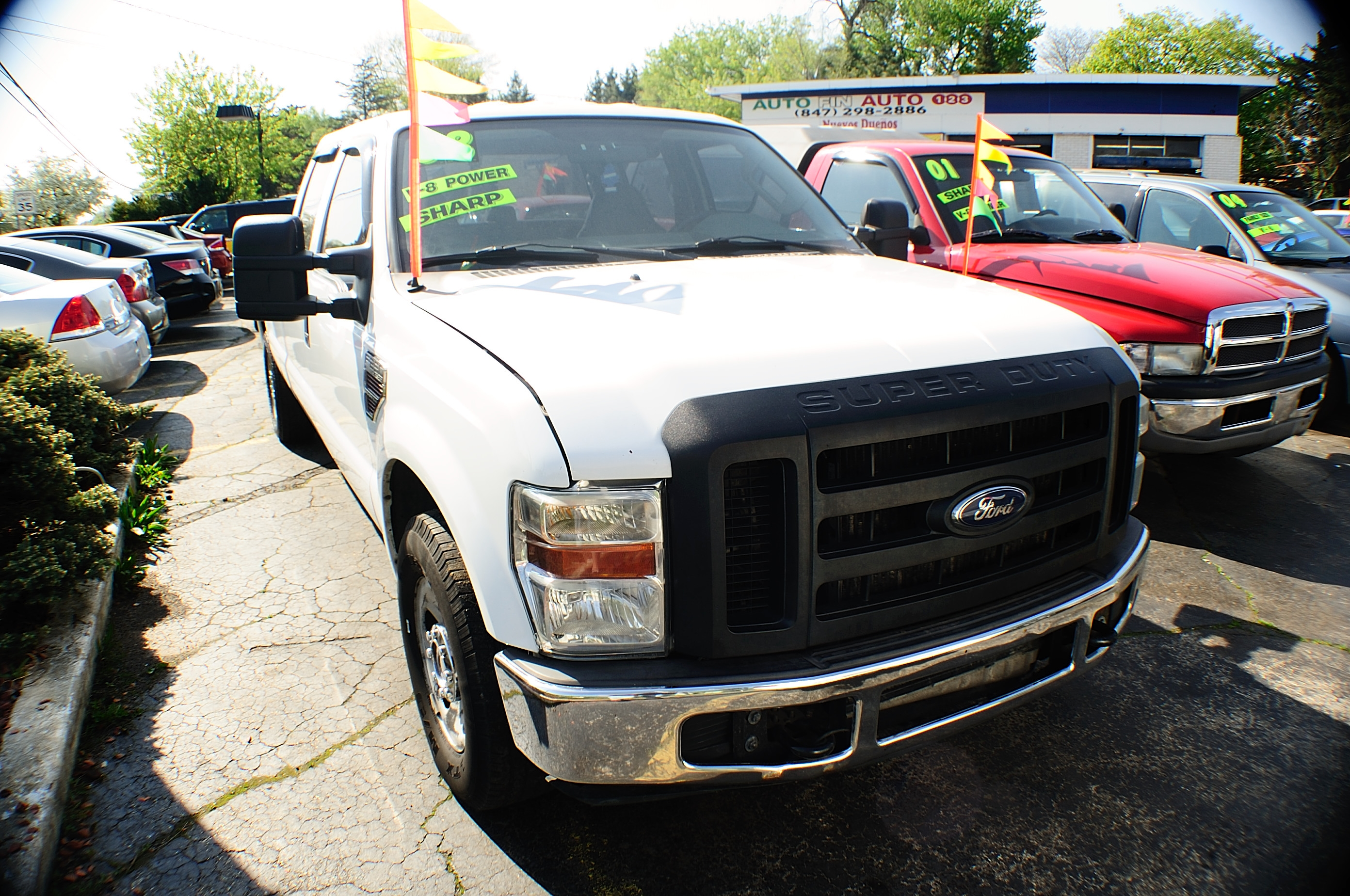 2008 Ford F250 White Crew 4x2 Diesel Truck sale Downers Grove Carpentersville Cicero
