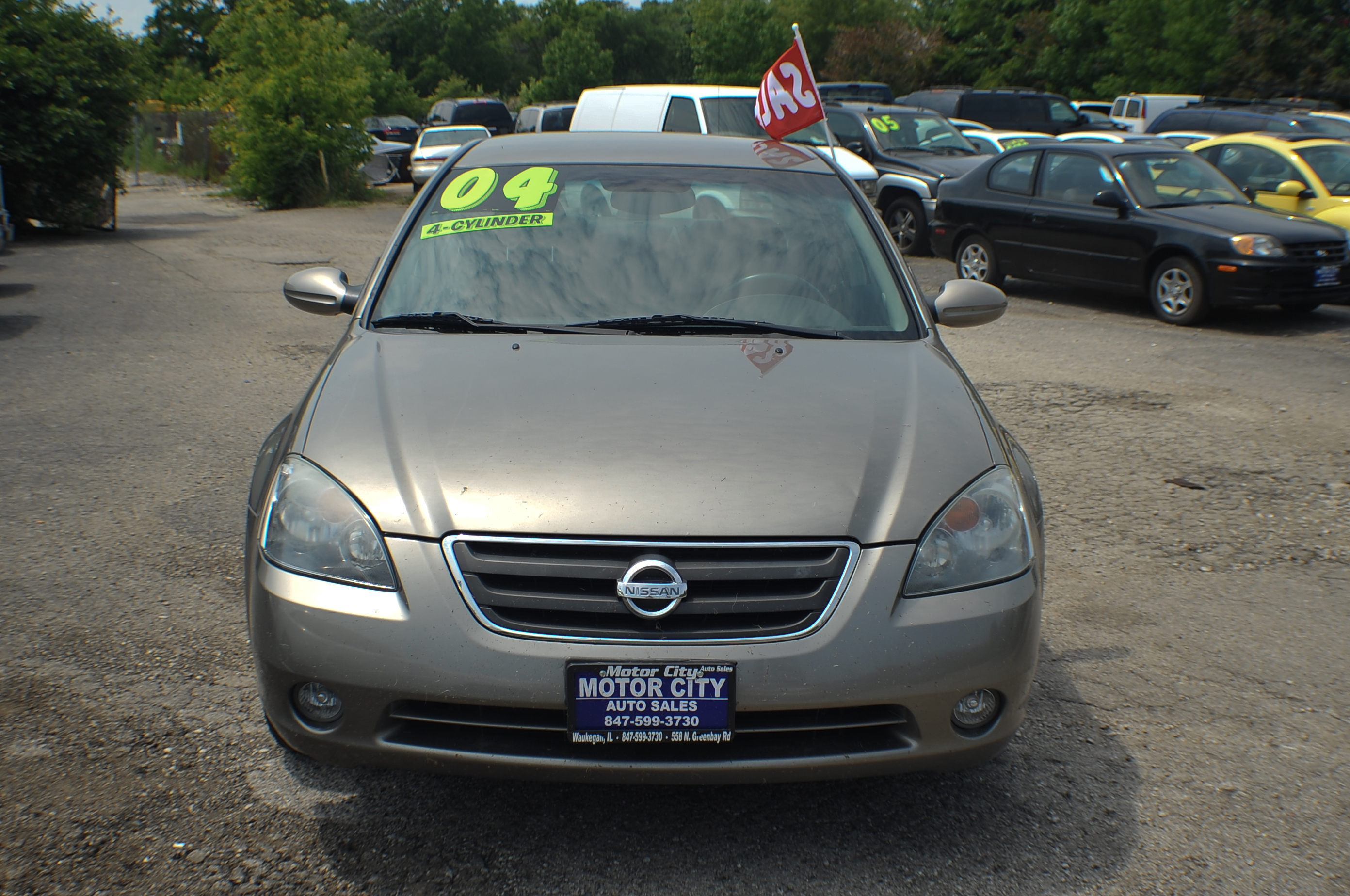 2004 Nissan Altima 2.5S Sand Sedan Used Car Sale Libertyville Beach Park