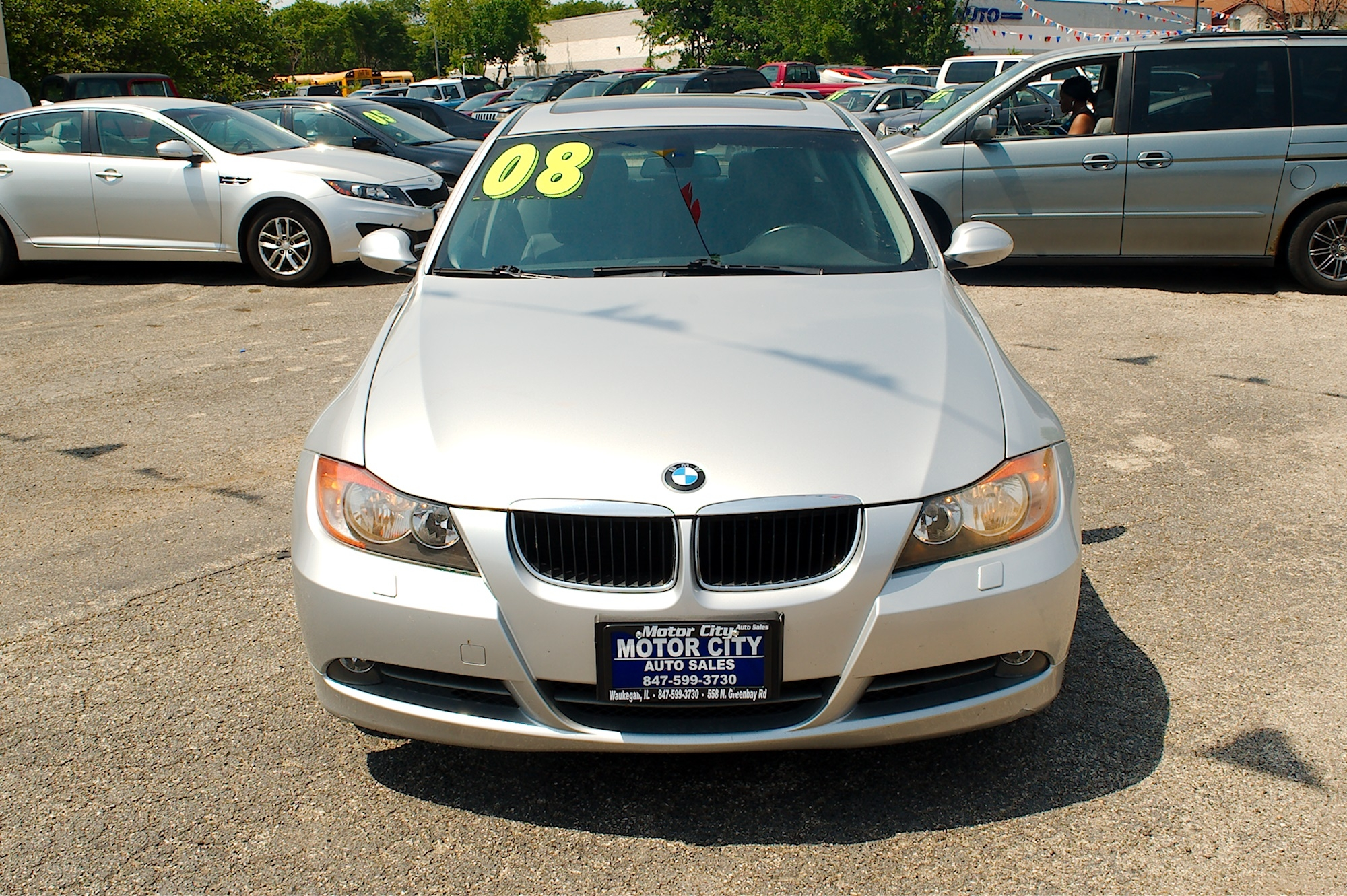2008 BMW 328xi Gray Sedan Used Car Sale Gurnee Kenosha Mchenry Chicago Illinois