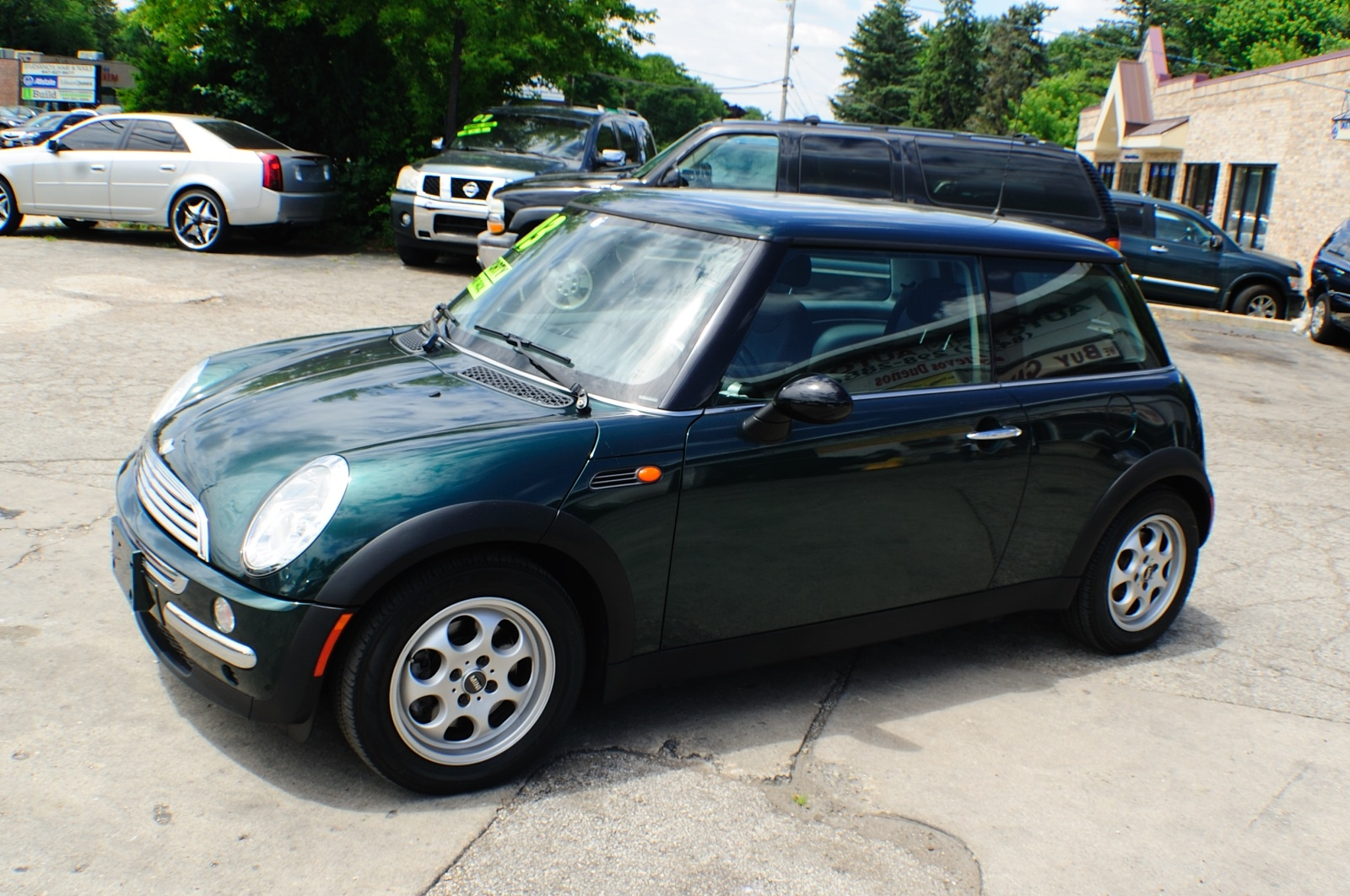 2003 Mini Cooper Green Used Sport Coupe used car sale Downers Grove Carpentersville Cicero