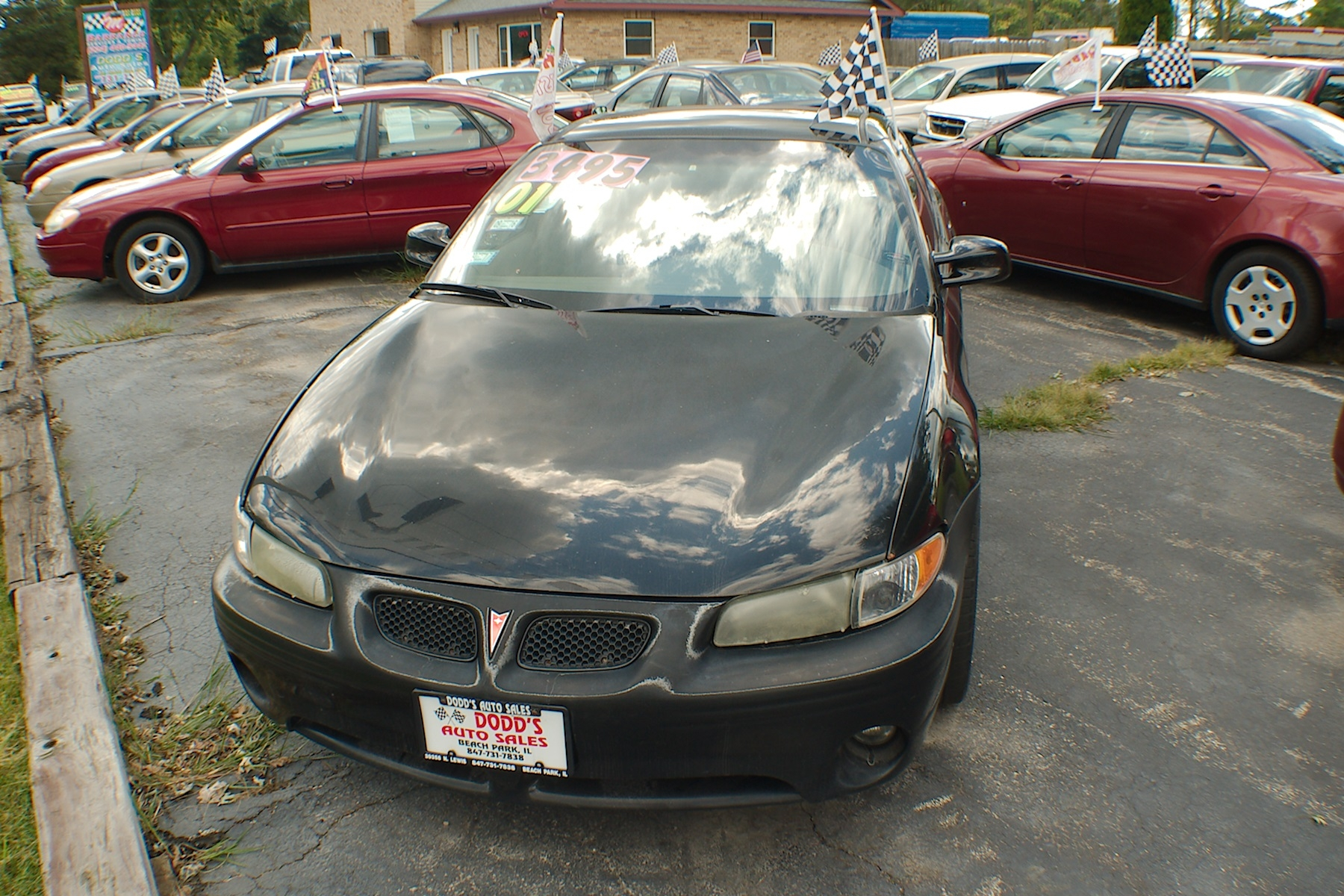 2001 Pontiac Grand Prix SE Black Sedan Used Car Sale Gurnee Kenosha Mchenry Chicago Illinois