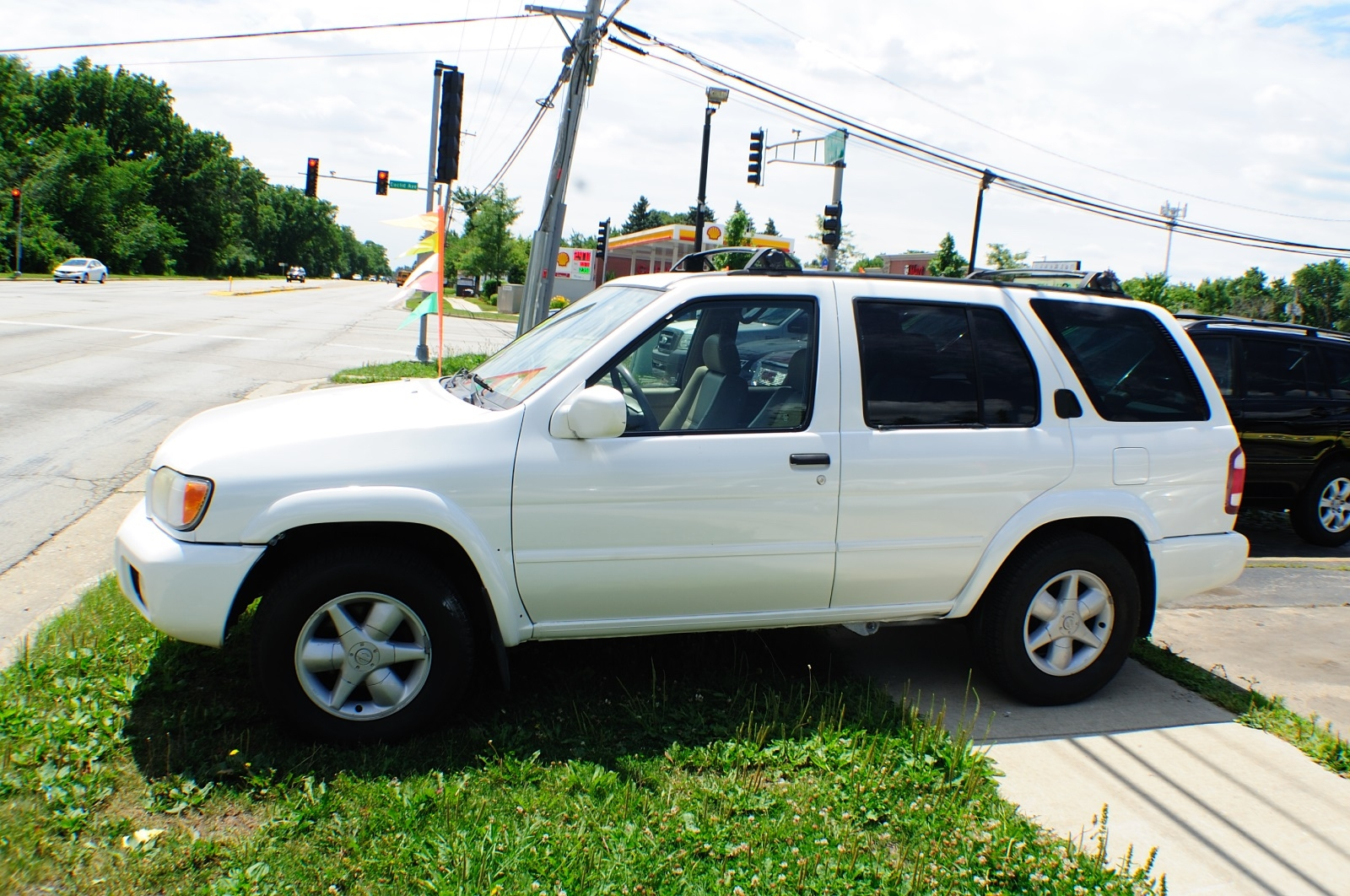 2001 Nissan Pathfinder White Used 4x4 SUV Sale Addison Algonquin Arlington Heights Bartlett