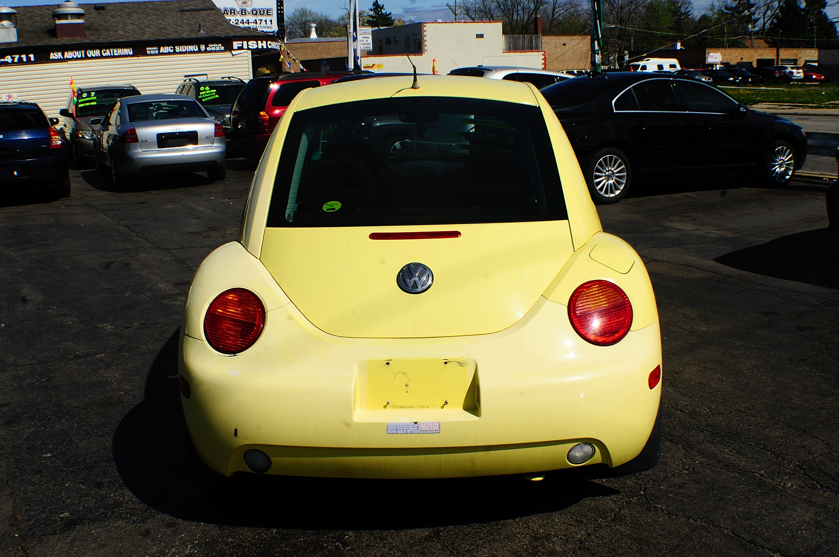 1999 Volkswagen Beetle Yellow Manual used car sale Buffalo Grove Deerfield Fox Lake