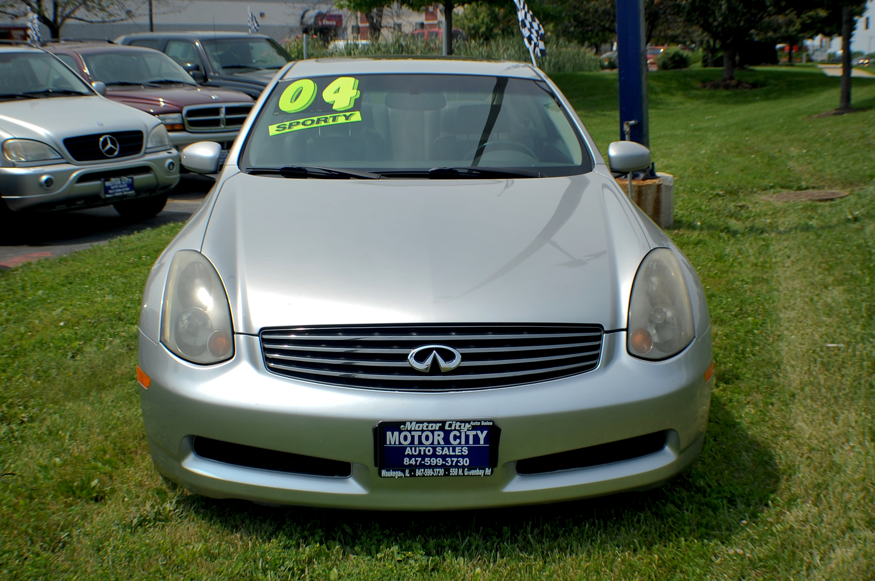 2004 Infiniti G35 Silver Sport Coupe Used Car Sale Beach Park