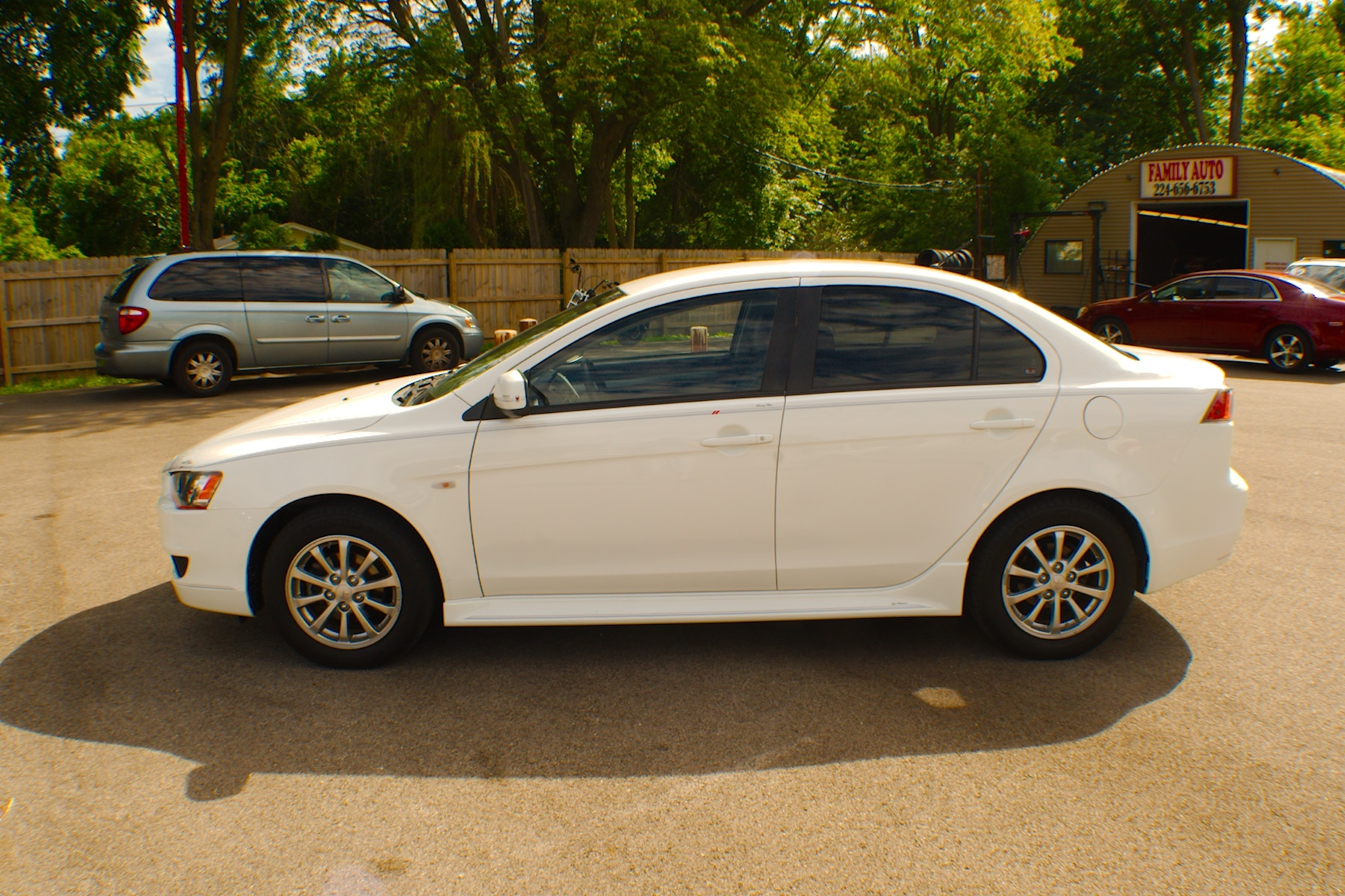 2011 Mitsubishi Lancer White Spider Drive Used Sedan Sale Antioch Zion Waukegan Lake County Illinois