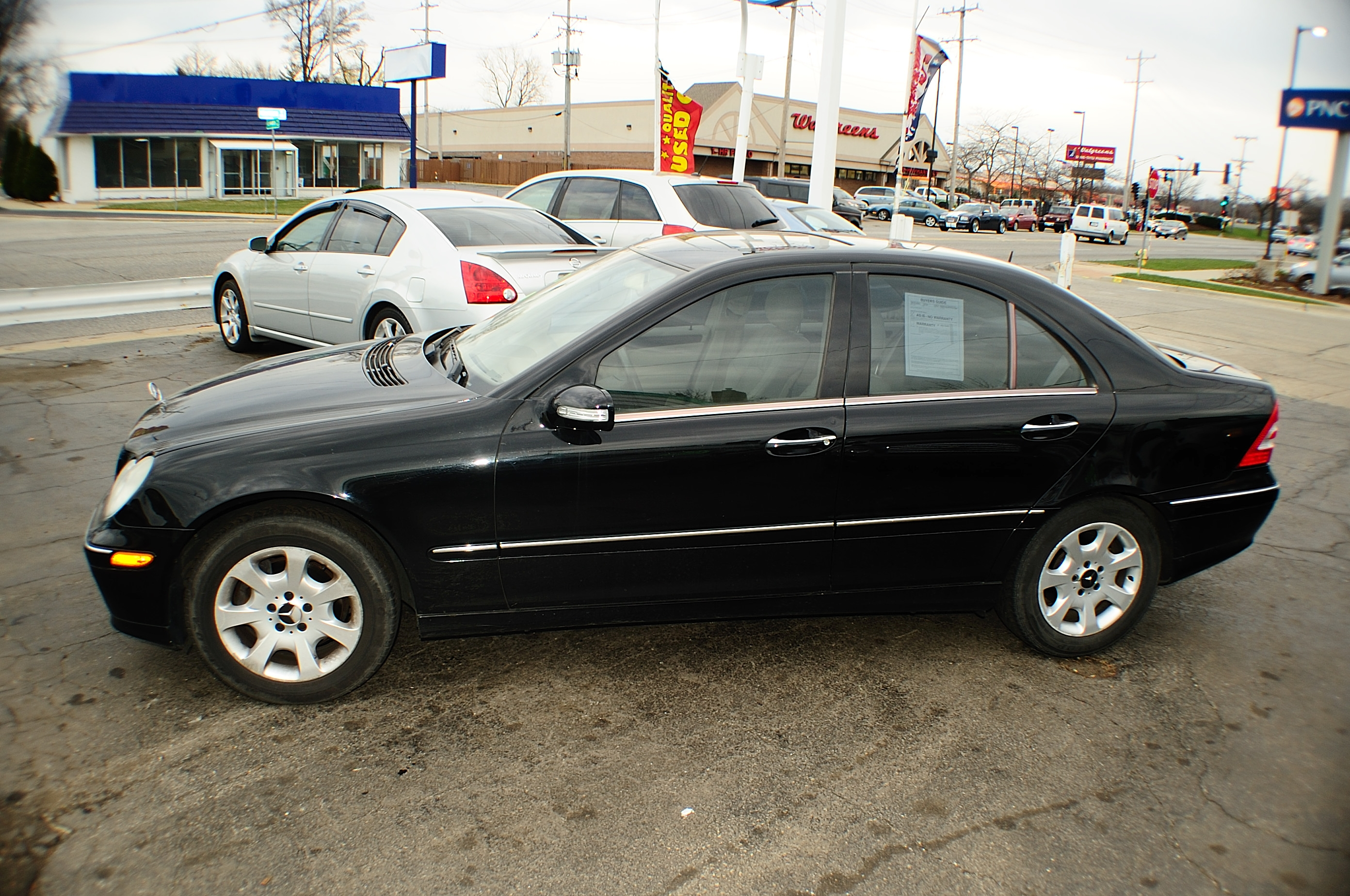 2005 Mercedes C240 Black 4matic 4Dr Sedan sale used car Antioch Zion Waukegan