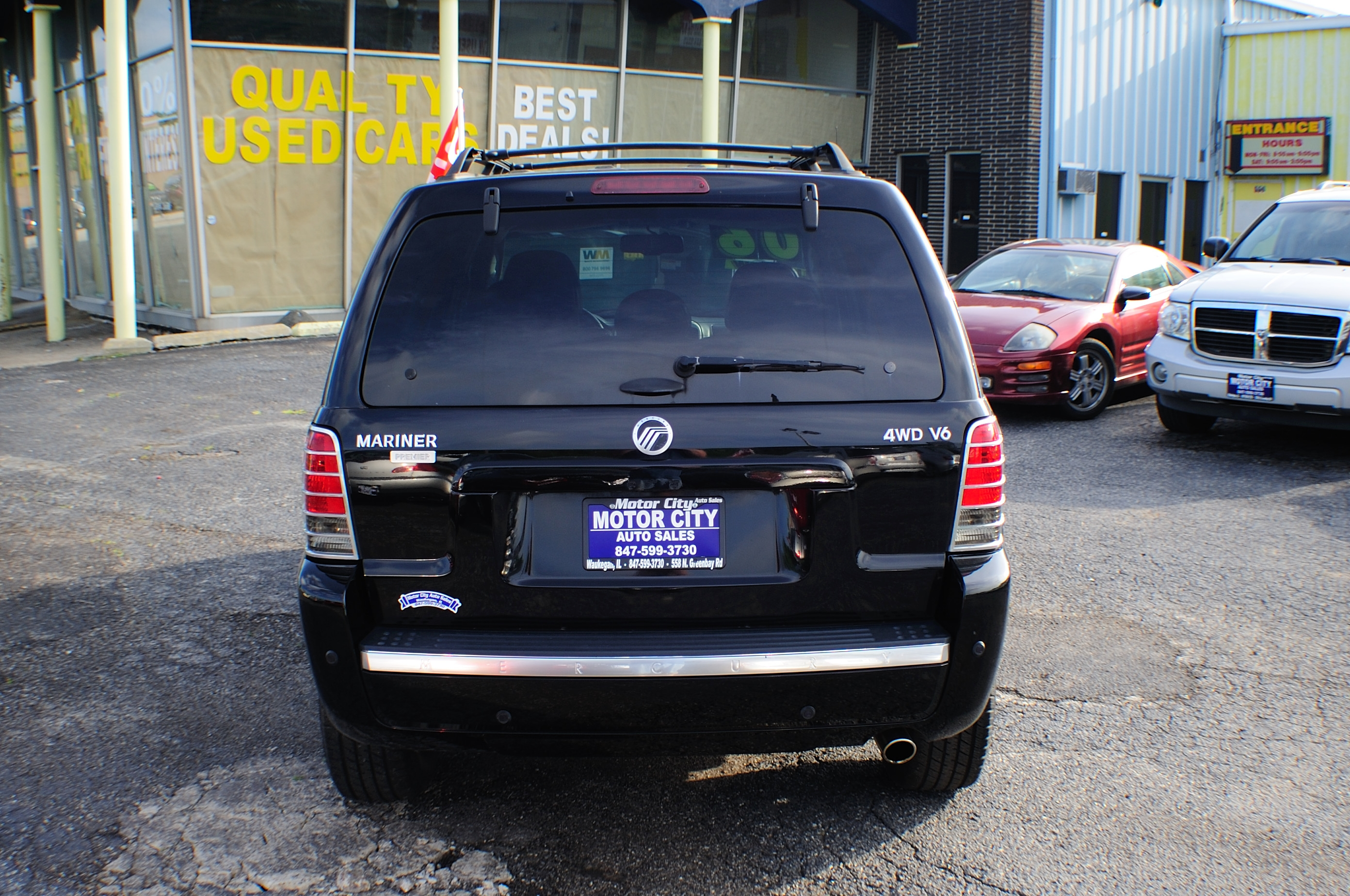 2006 Mercury Mariner Black AWD V6 Used SUV Wagon Sale Waukegan Kenosha