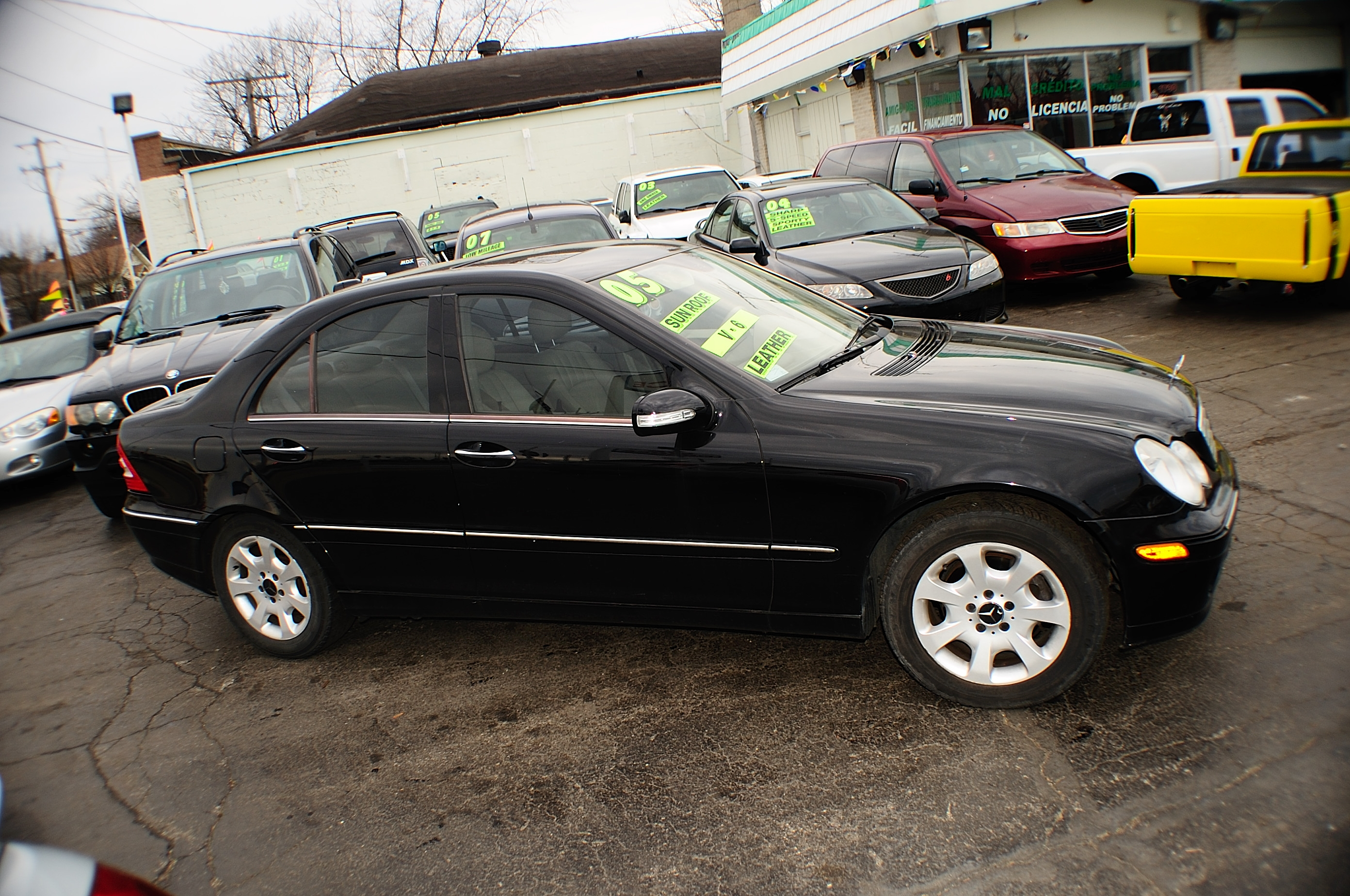 2005 Mercedes C240 Black 4matic 4Dr Sedan sale used car Bannockburn Barrington Beach Park