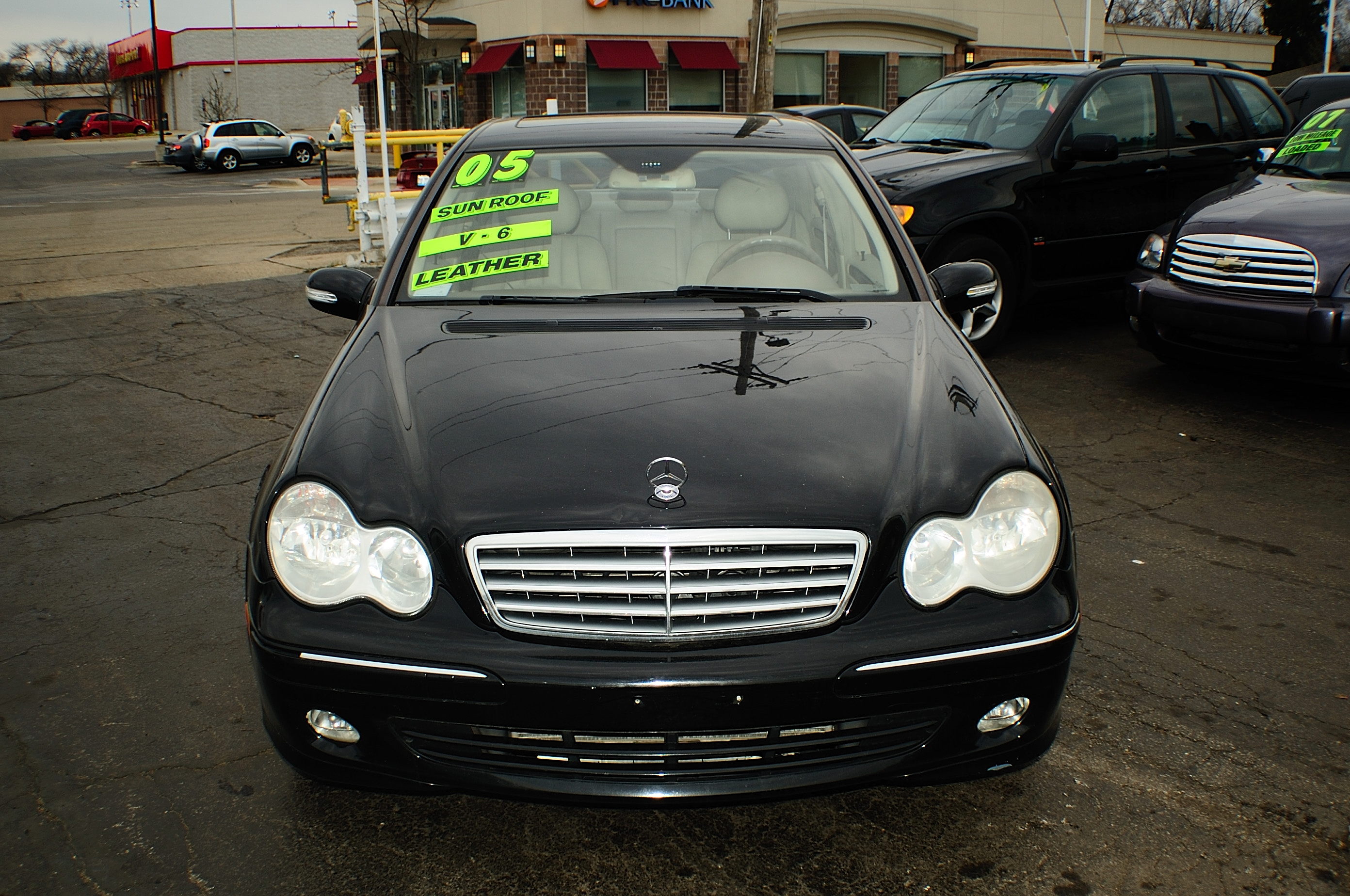 2005 Mercedes C240 Black 4matic 4Dr Sedan sale used car Gurnee Kenosha Mchenry