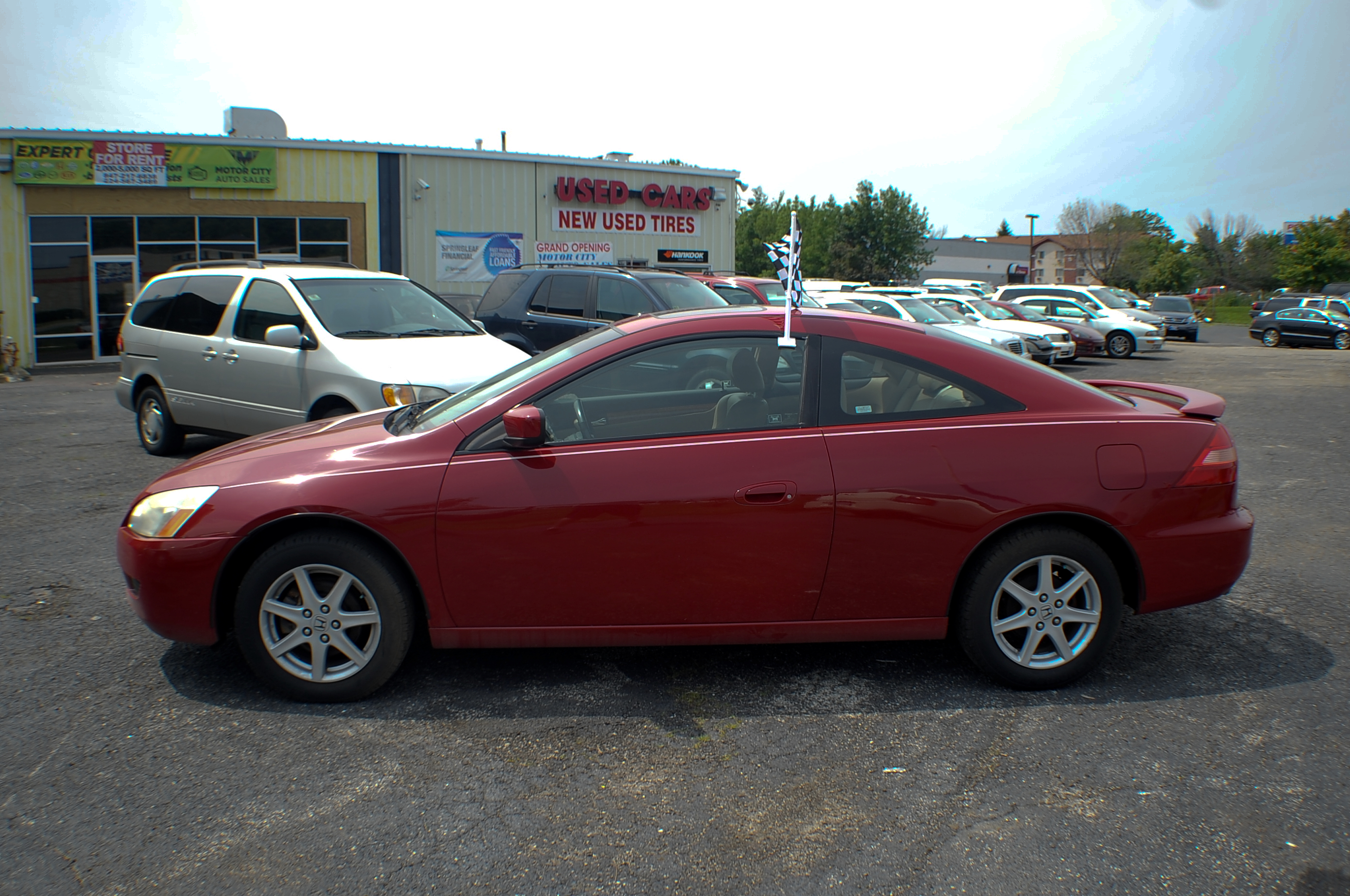 2003 Honda Accord Red V6 Sport Coupe Used Car Sale Antioch Grayslake