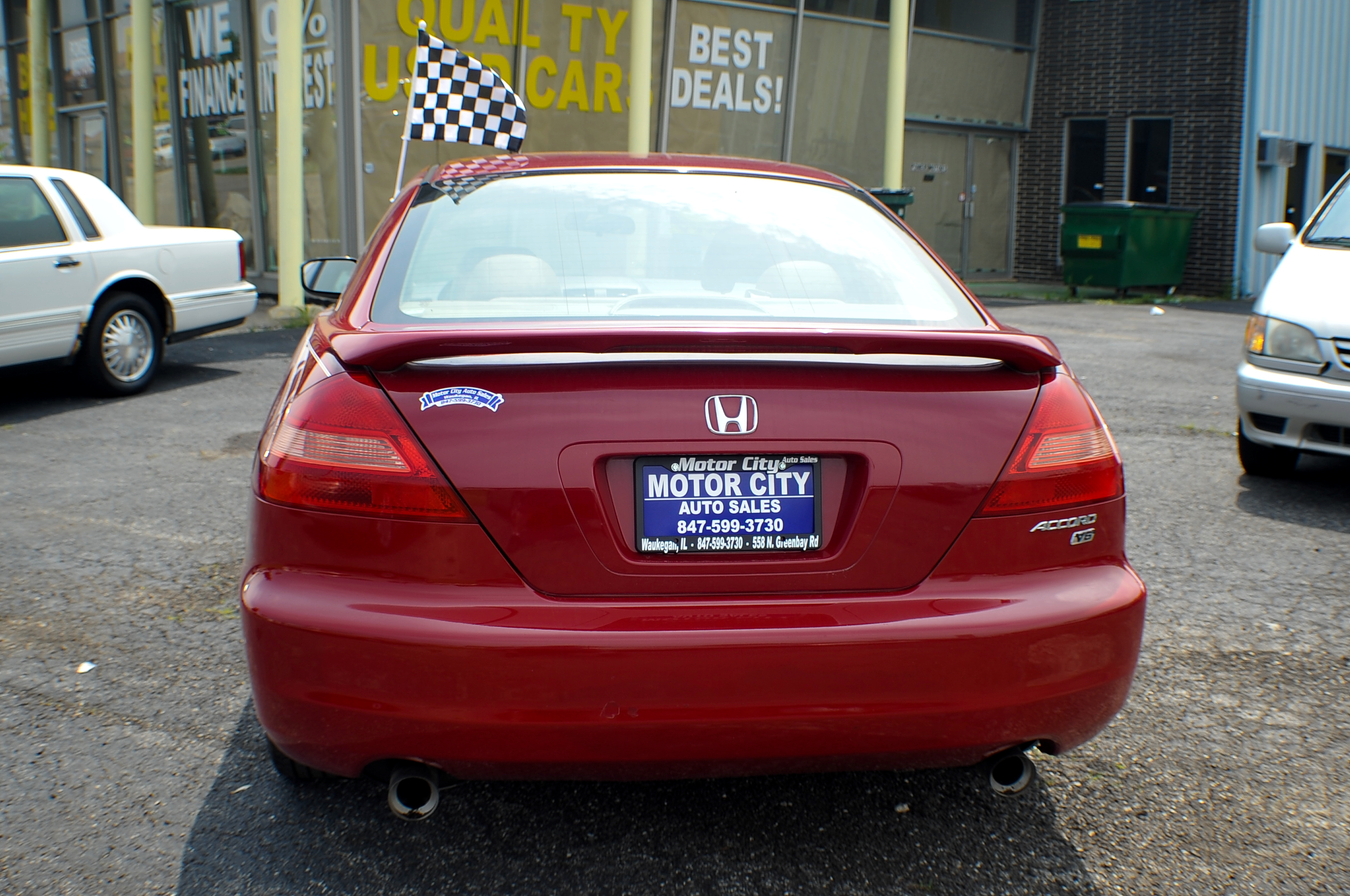 2003 Honda Accord Red V6 Sport Coupe Used Car Sale Gurnee Waukegan