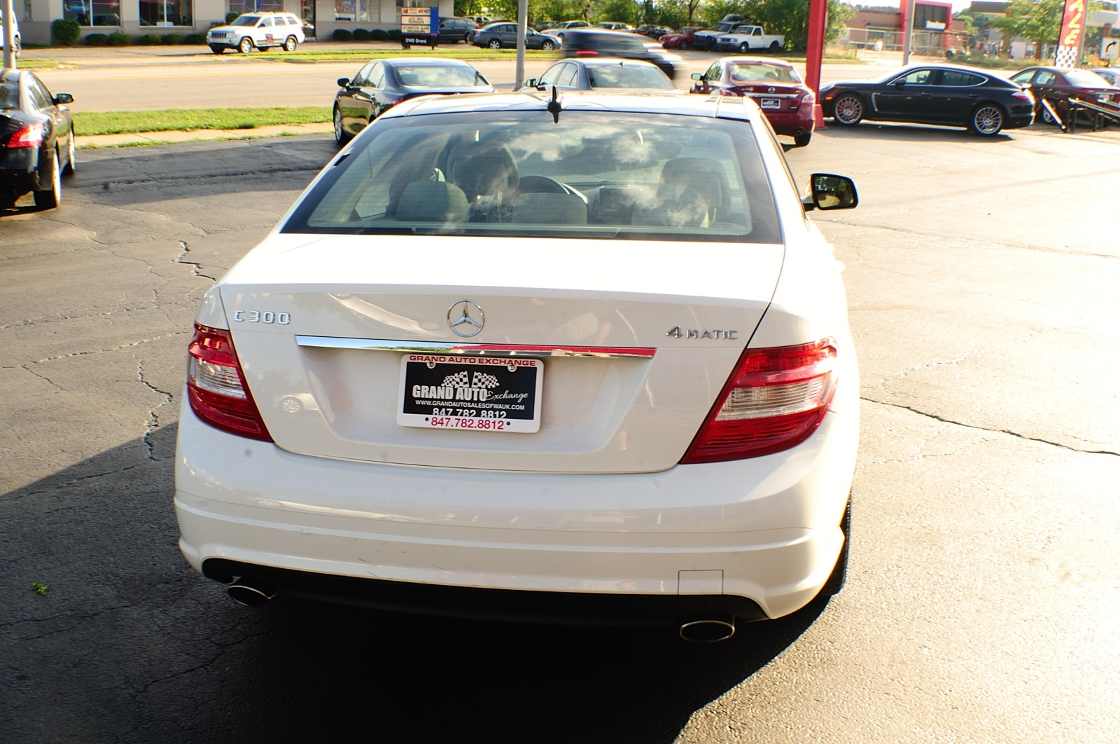 2010 Mercedes Benz C300 4Matic AWD White Sport Sedan sale Buffalo Grove Deerfield Fox Lake