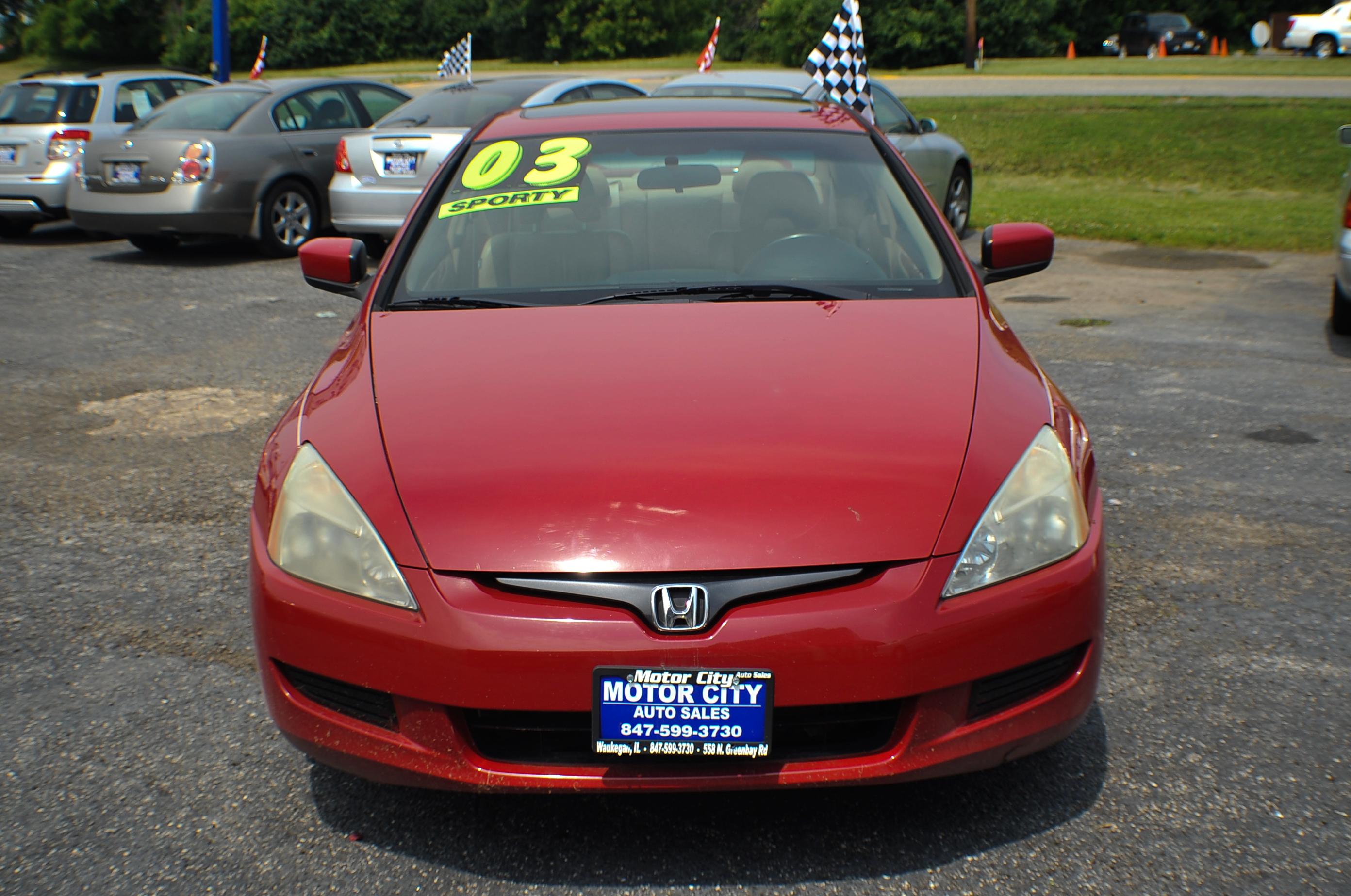 Honda Accord Sport For Sale >> 2003 Honda Accord Red V6 Sport Coupe Used Car Sale