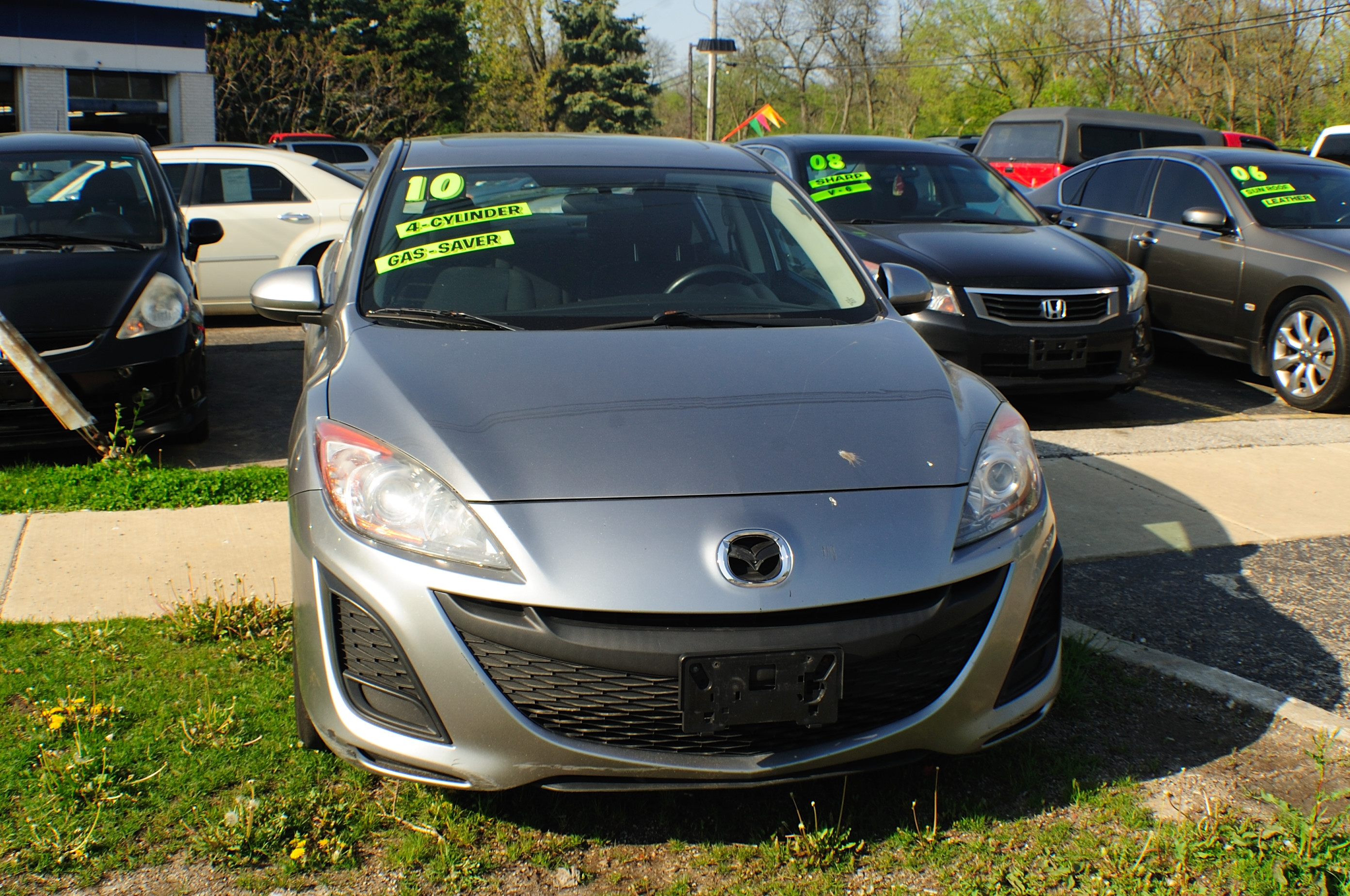 2010 Mazda 3 Silver Used Sedan car sale Buffalo Grove Bollingbrook Carol Stream