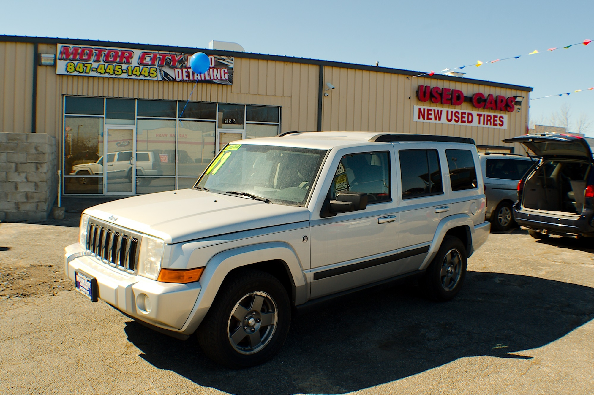 2007 Jeep Commander 4x4 Silver Flex fuel SUV Sale Antioch Zion Waukegan Lake County Illinois