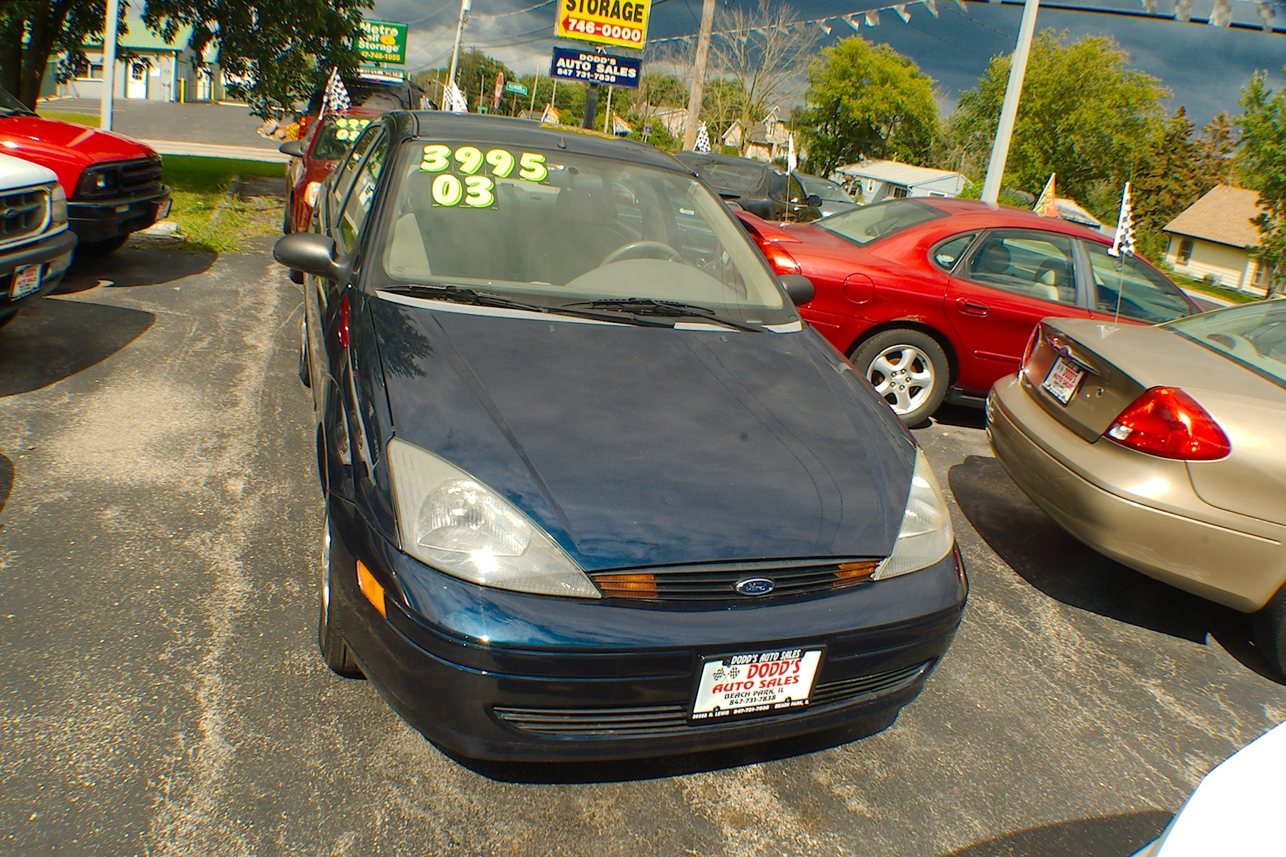 2003 Ford Focus SE Blue Sedan Used Car Sale Gurnee Kenosha Mchenry Chicago Illinois