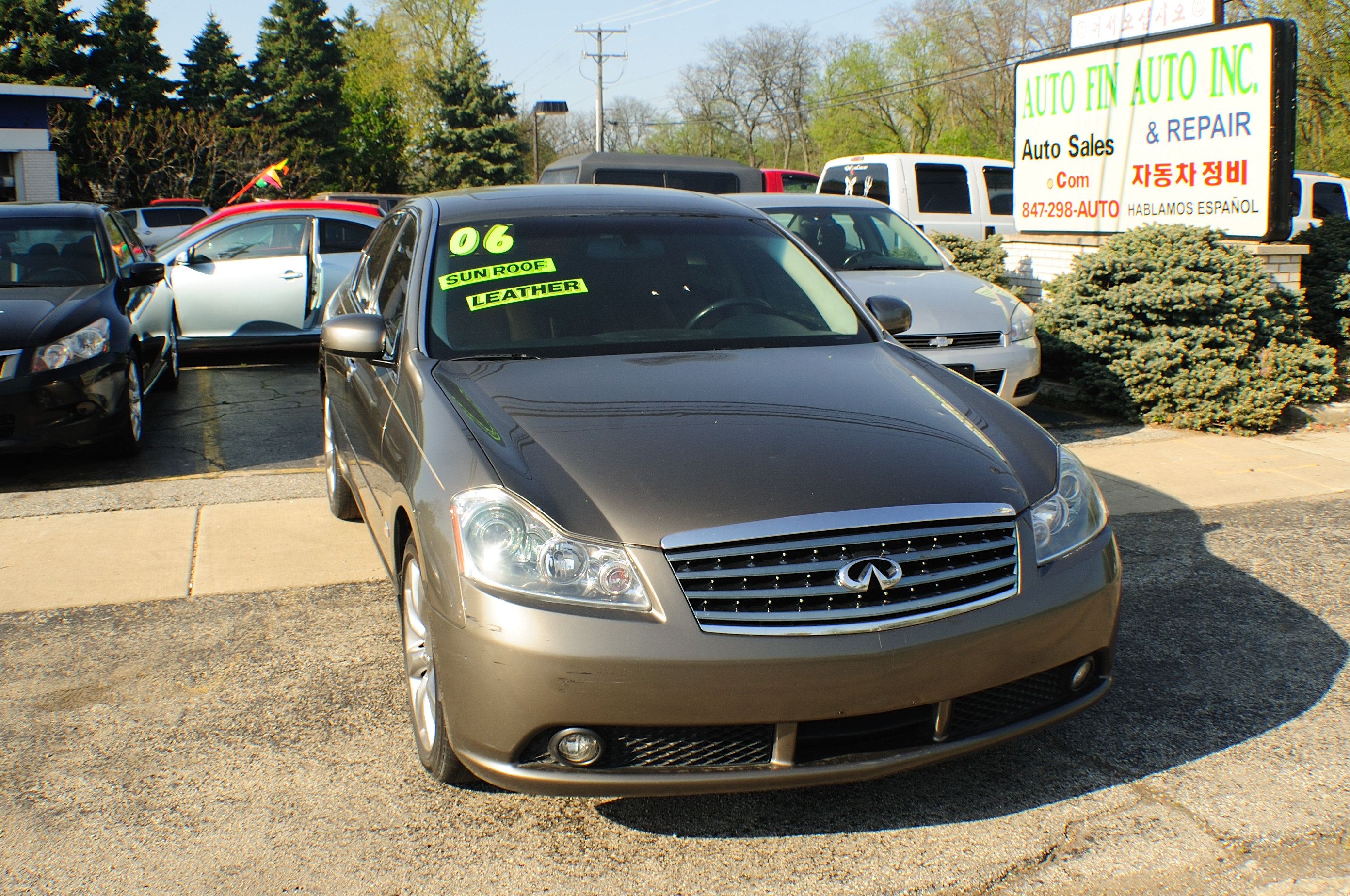 2006 Infiniti M35 Gray Used Sedan car sale Buffalo Grove Bollingbrook Carol Stream