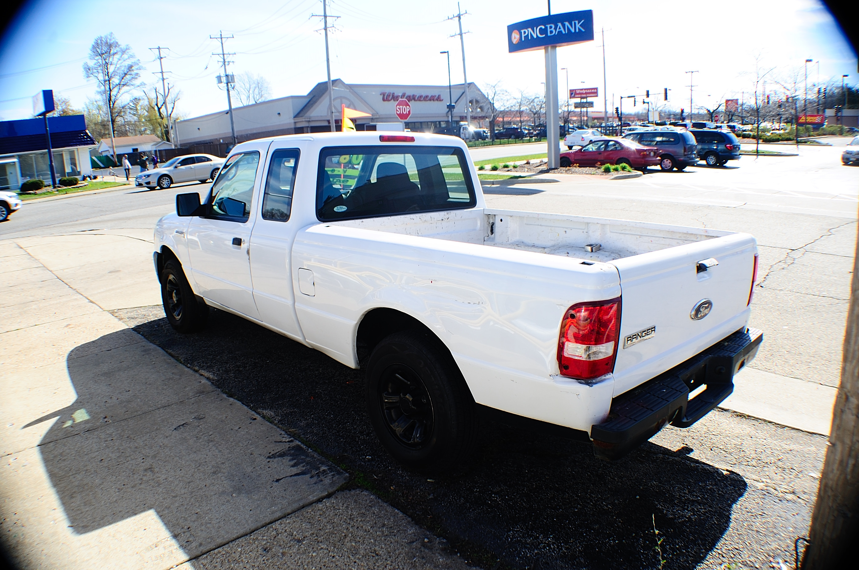 2008 Ford Ranger Ext White Pickup Truck sale Buffalo Grove Deerfield Fox Lake