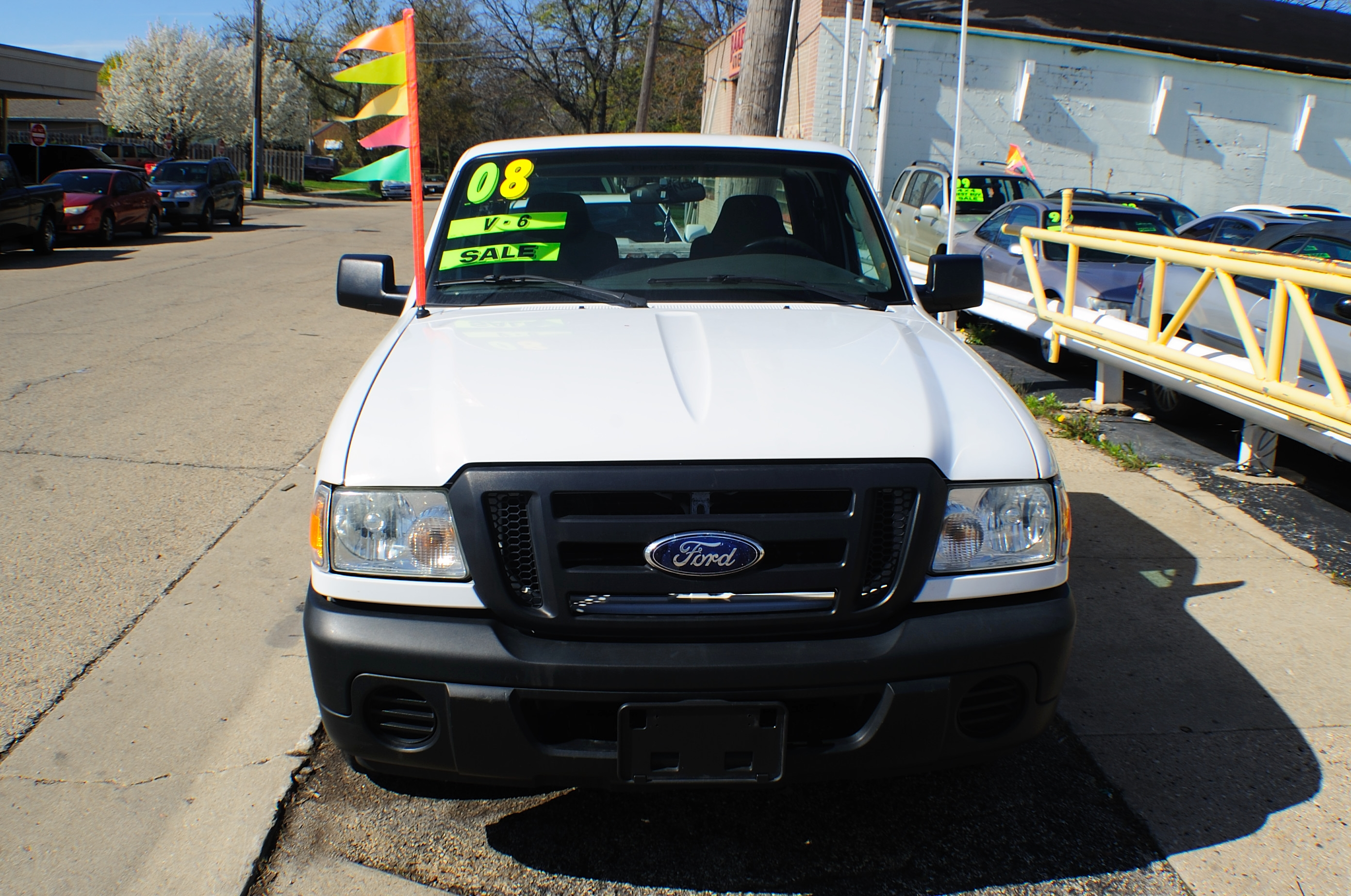 2008 Ford Ranger Ext White Pickup Truck sale Gurnee Kenosha Mchenry Chicago Illinois