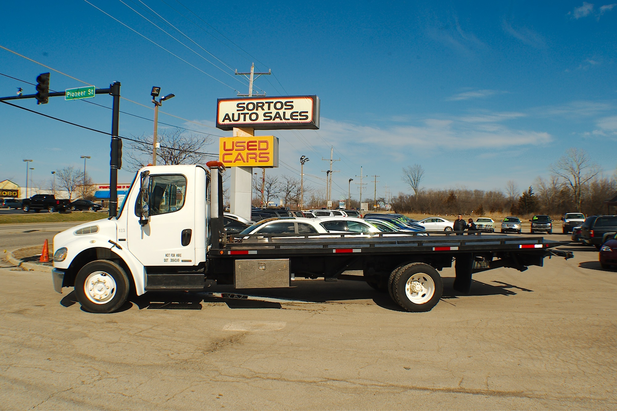 2006 Freightliner Flatbed Tow Wrecker Truck Sale Antioch Zion Waukegan Lake County Illinois