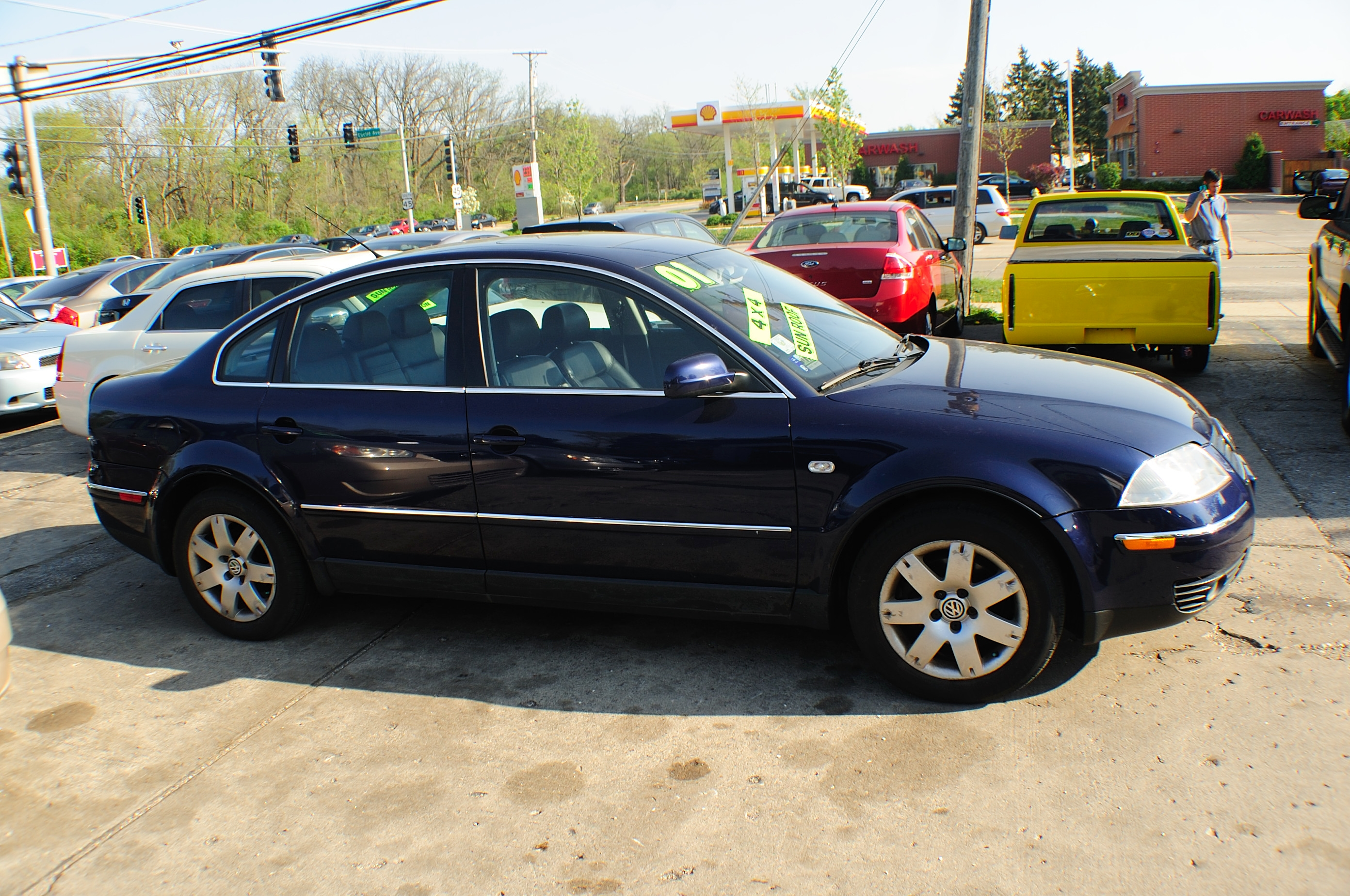 2001 Volkswagen Passat Blue Used Sedan car sale Downers Grove Carpentersville Cicero