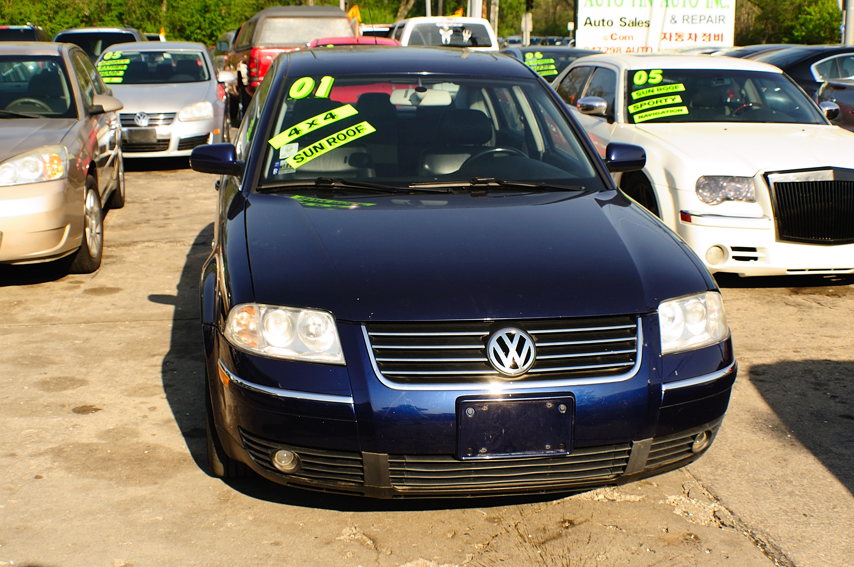 2001 Volkswagen Passat Blue Used Sedan