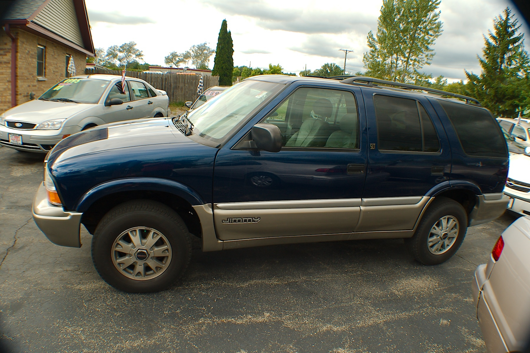 2001 GMC Jimmy SLT 4x4 Blue Used SUV Sale Antioch Zion Waukegan Lake County Illinois